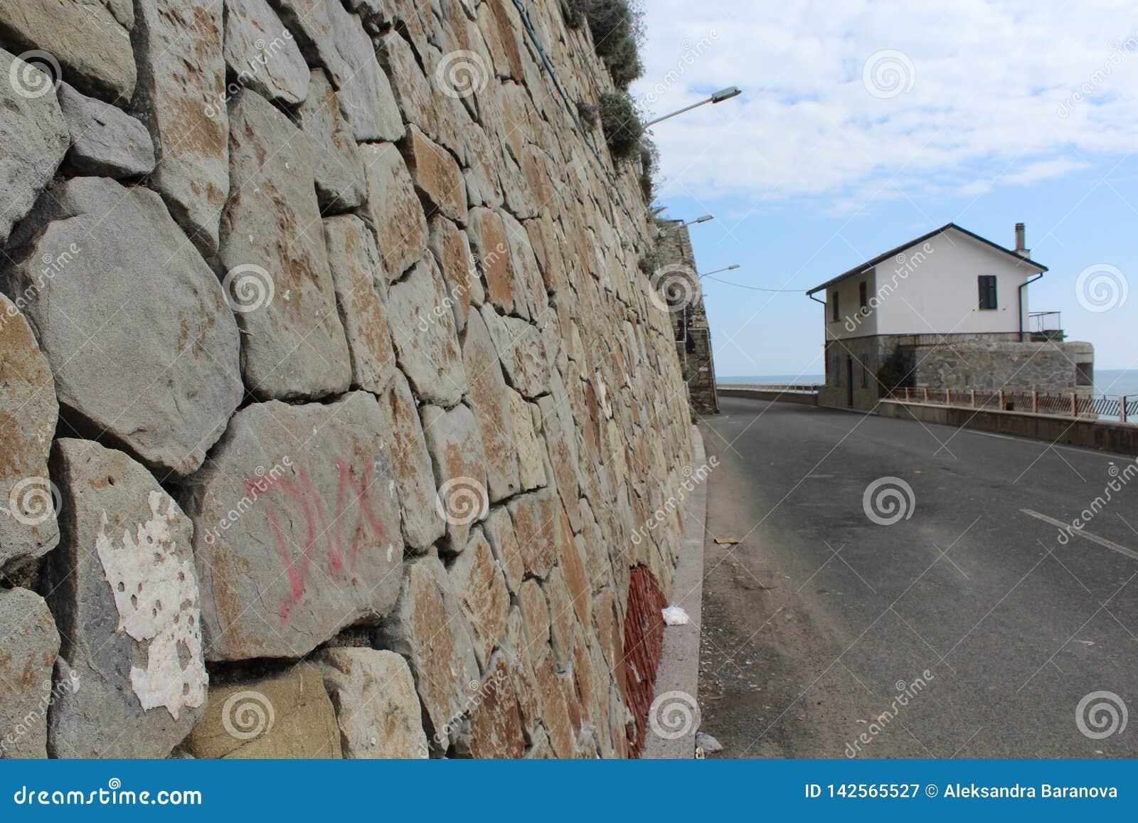 Rapallo, Italia - 03 27 2013: Vista delle vie di una stazione turistica Rapallo