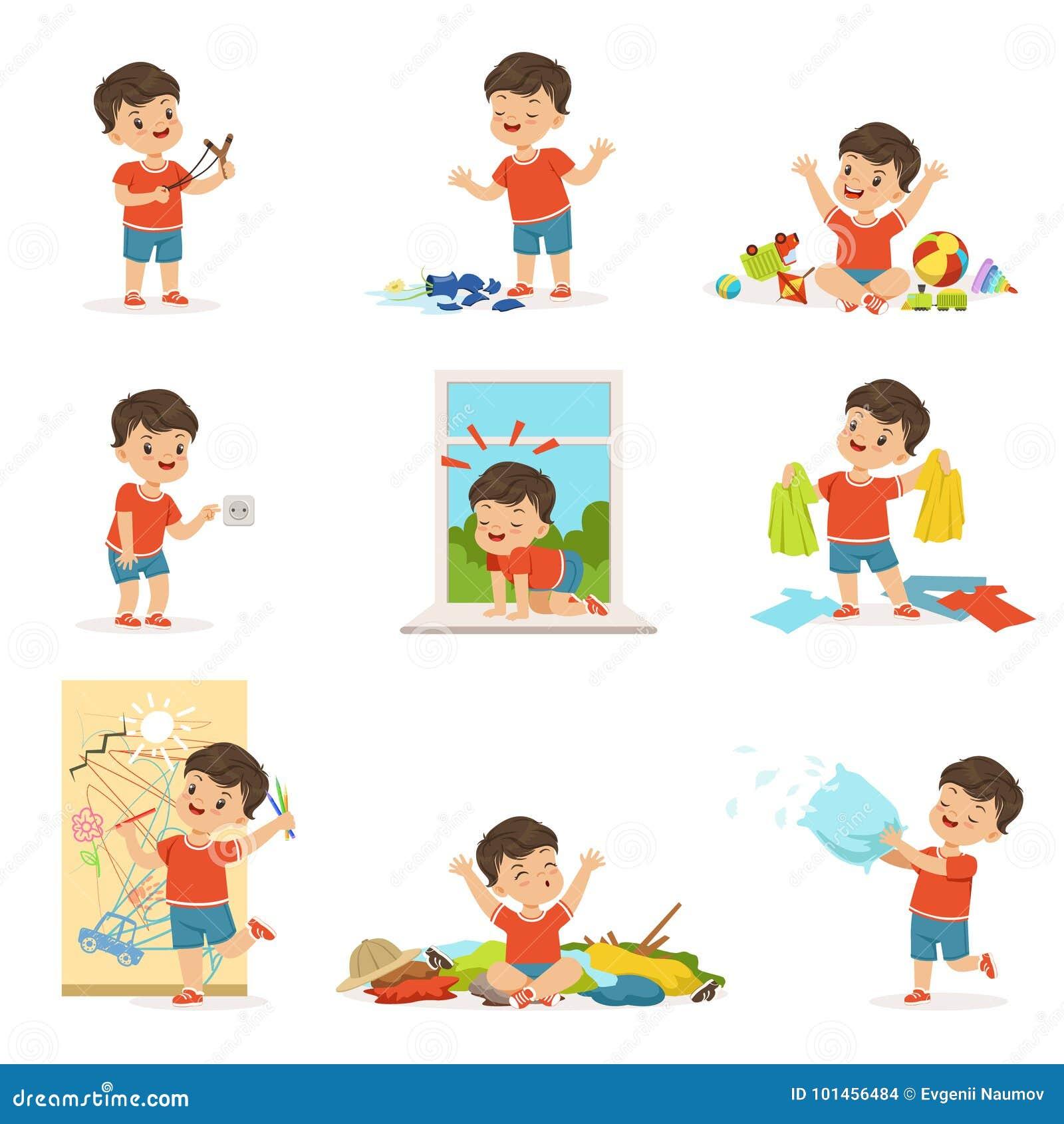 Rapaz pequeno engraçado que joga jogos e que faz a confusão