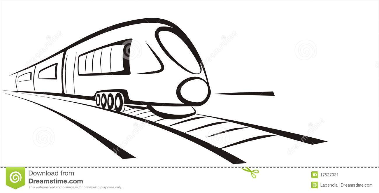 how to draw a 3d train track with a tunnel