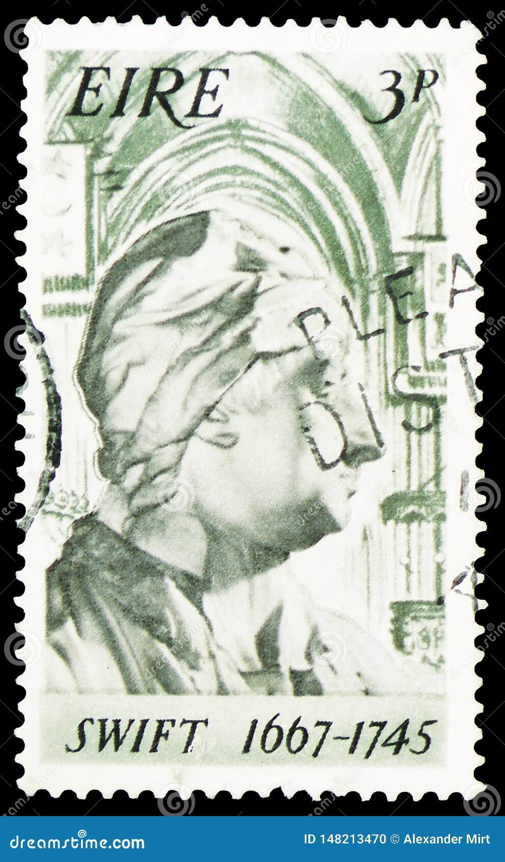1667-1745 rapido, trentesimo anniversario di nascita del serie di Jonathan Swift, circa 1967