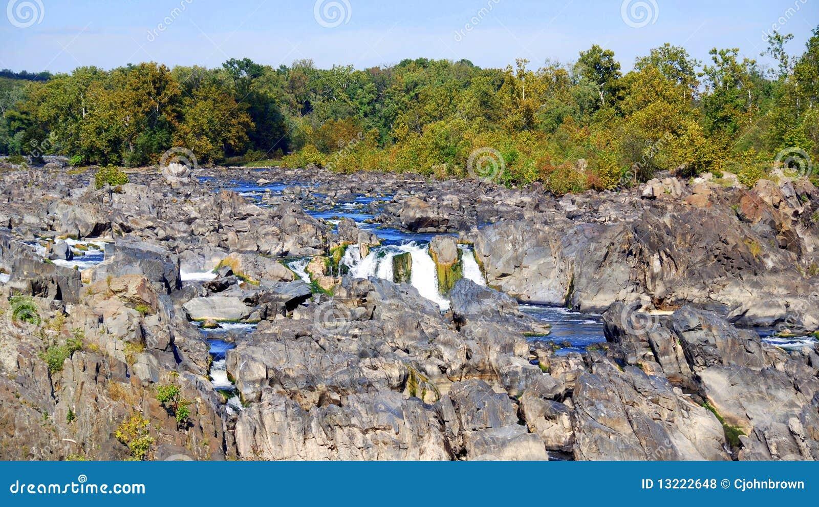 Rapids rocheux