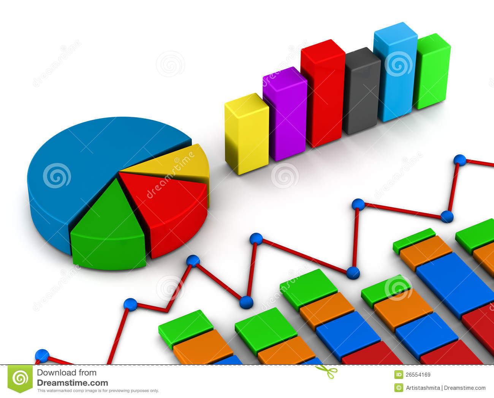 Raportów wykresu diagram