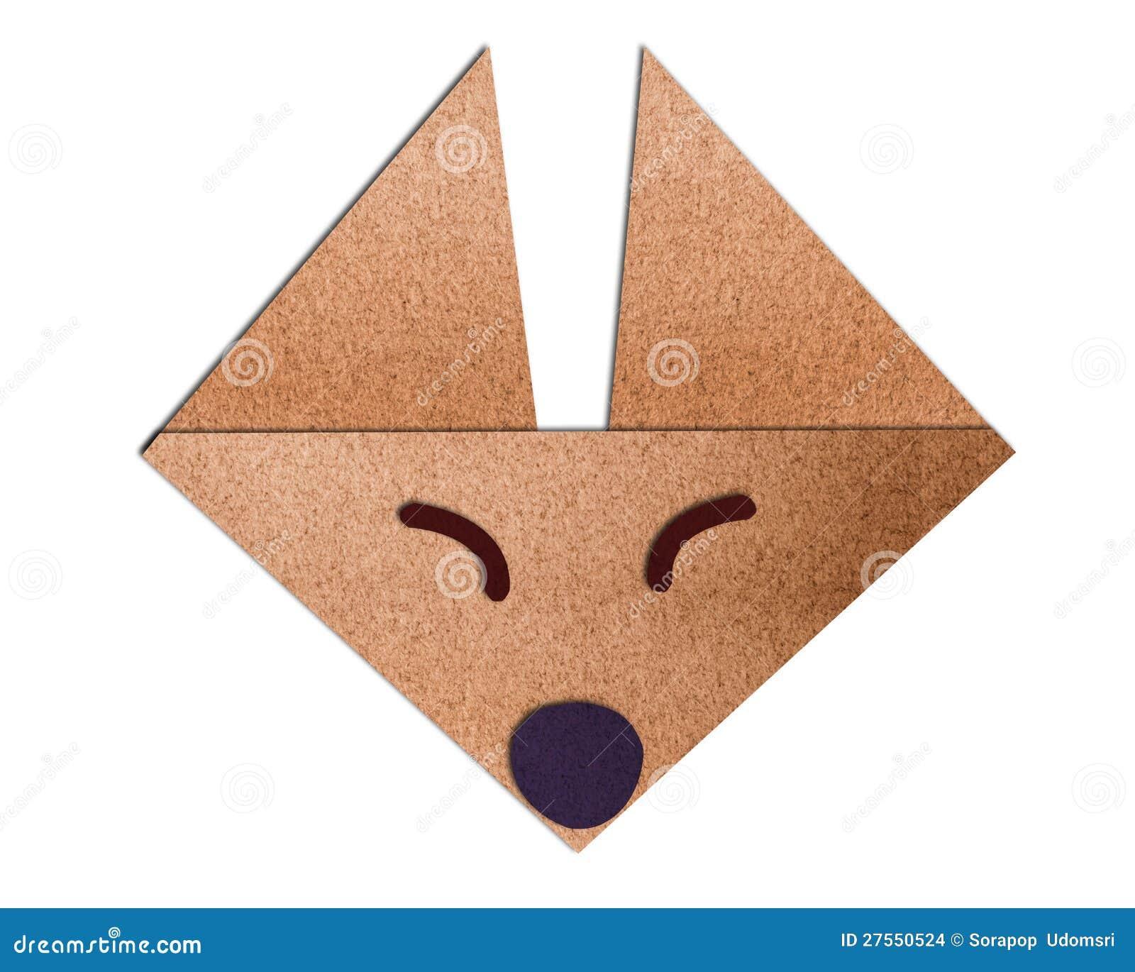 Raposa da face de origami feita do papel imagens de stock - Origami para todos ...