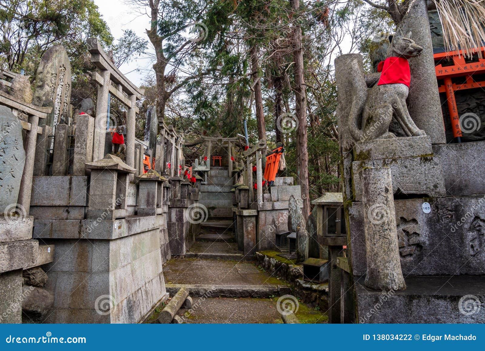 Raposas no templo de Fushimi Inari