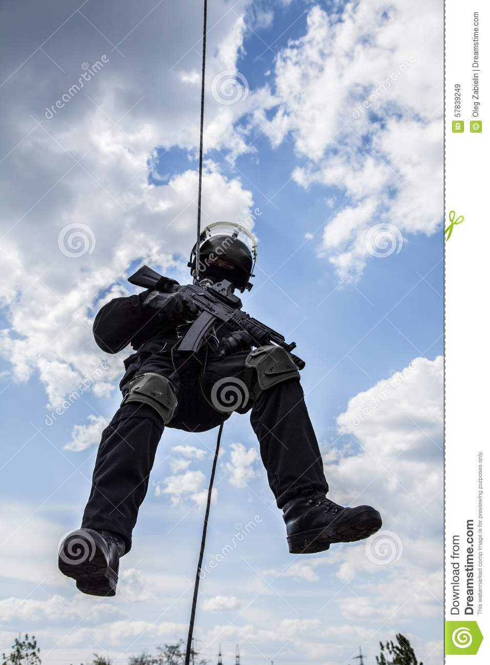 Rappeling anfall