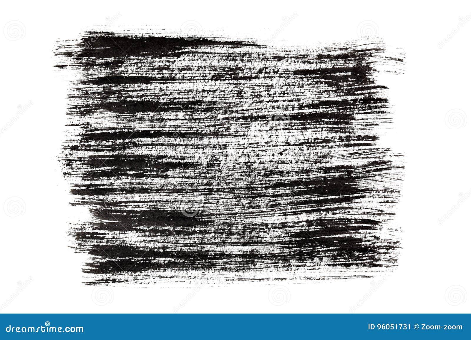 Rappes noires de pinceau