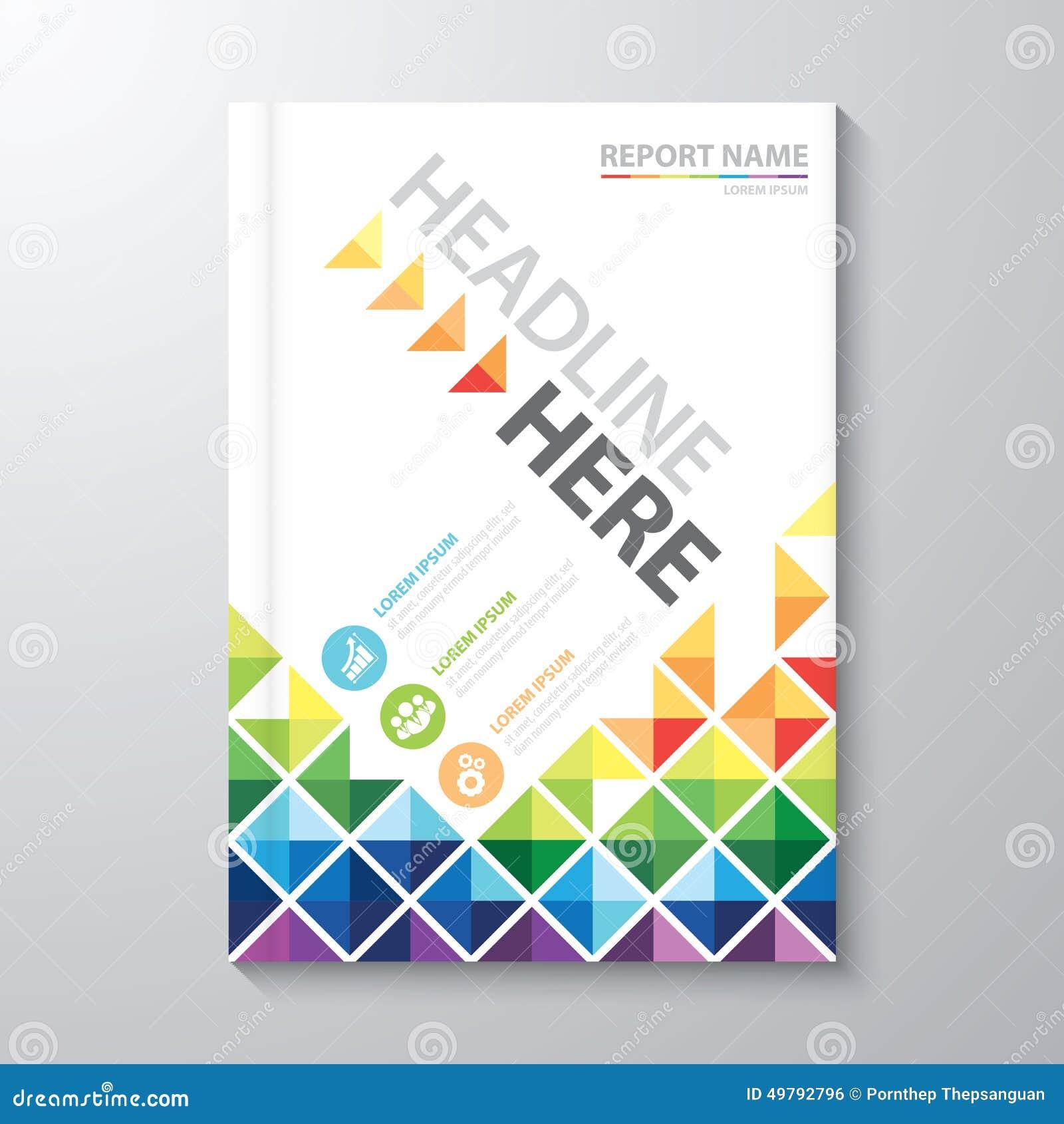 Simple Book Cover Background : Rapport annuel de couverture illustration vecteur