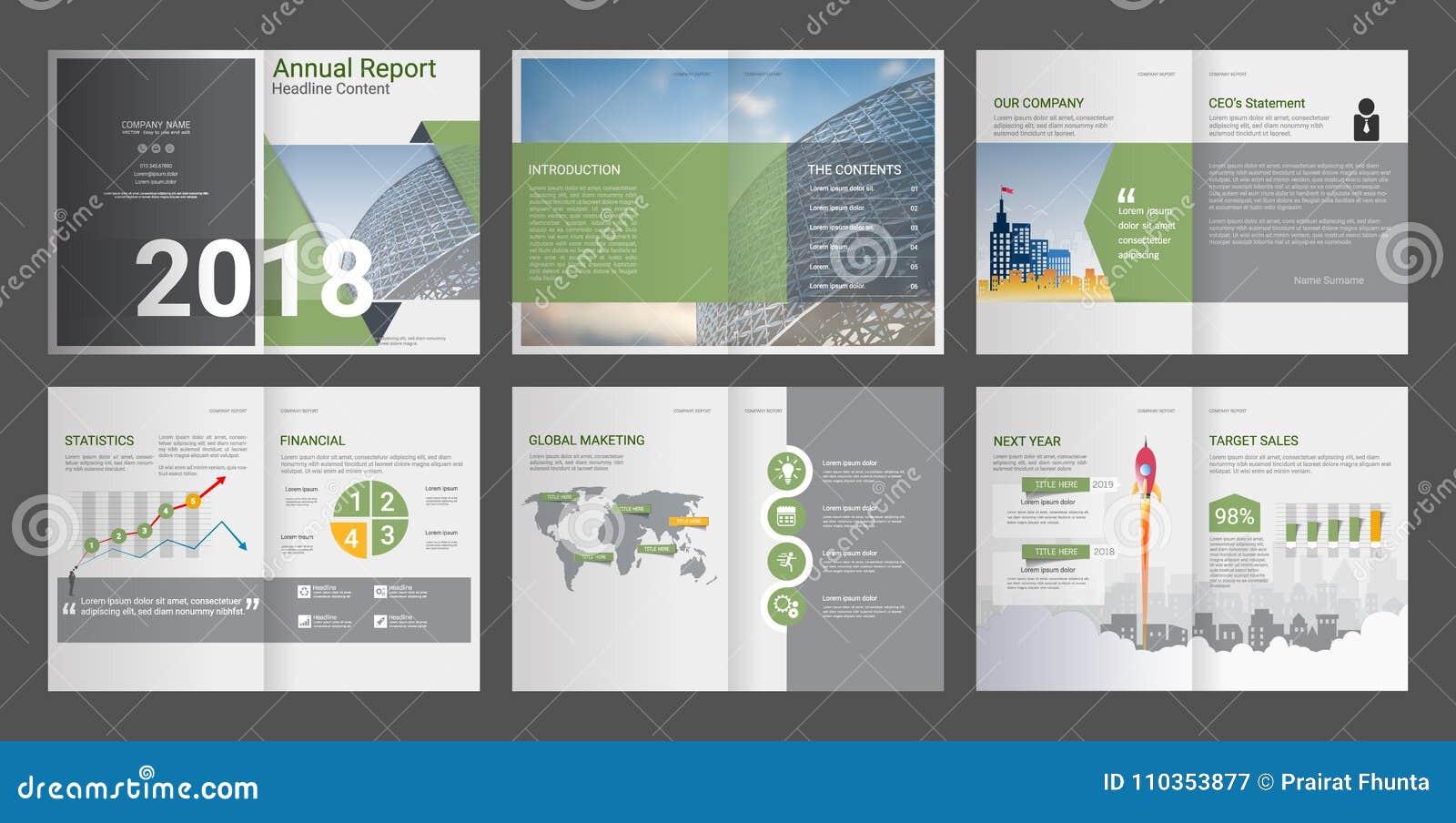 Rapport annuel, profil d entreprise, brochure d agence, calibre universel de présentation