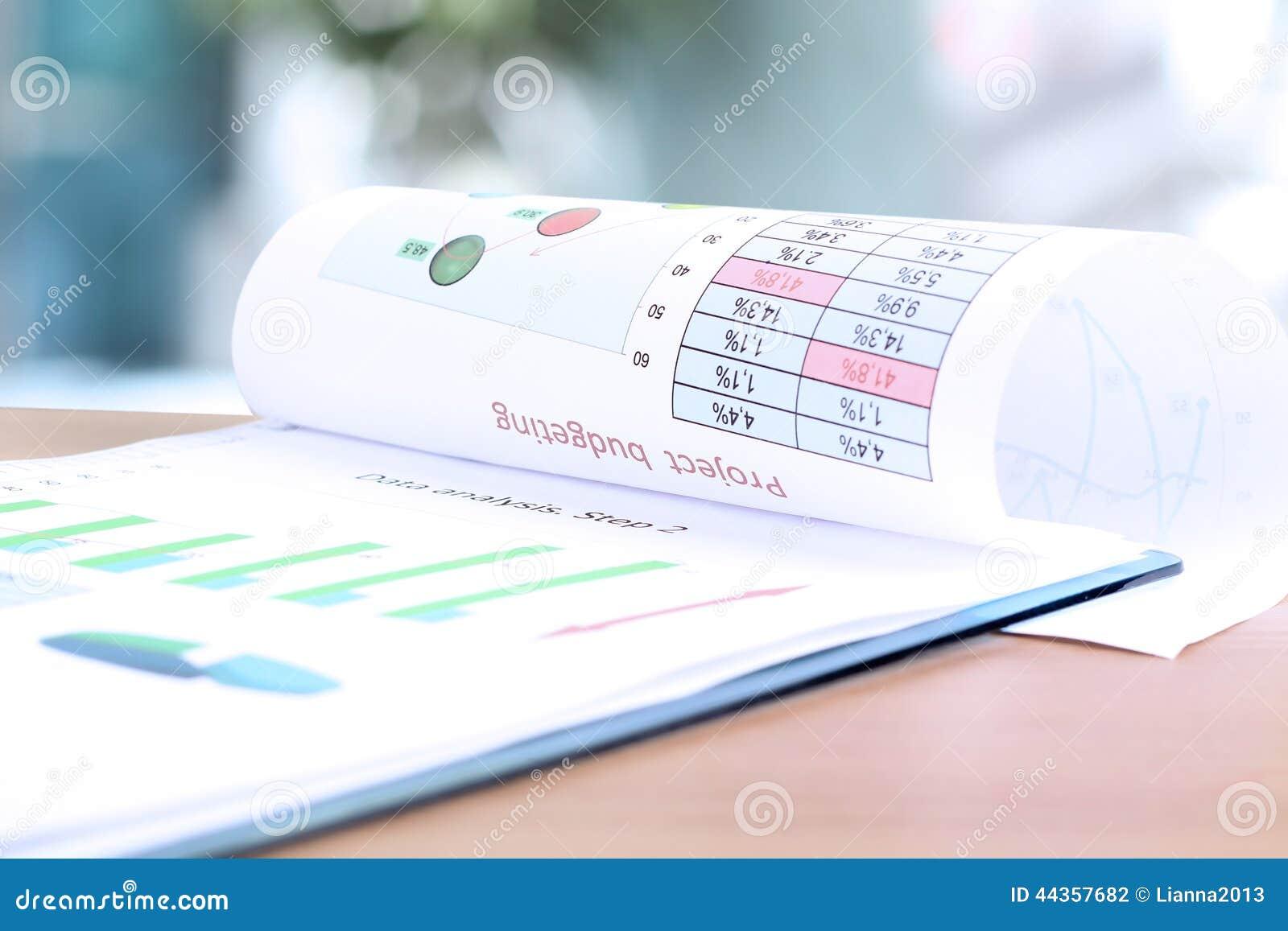 Rapporto di analisi del grafico commerciale Messa in bilancio di progetto