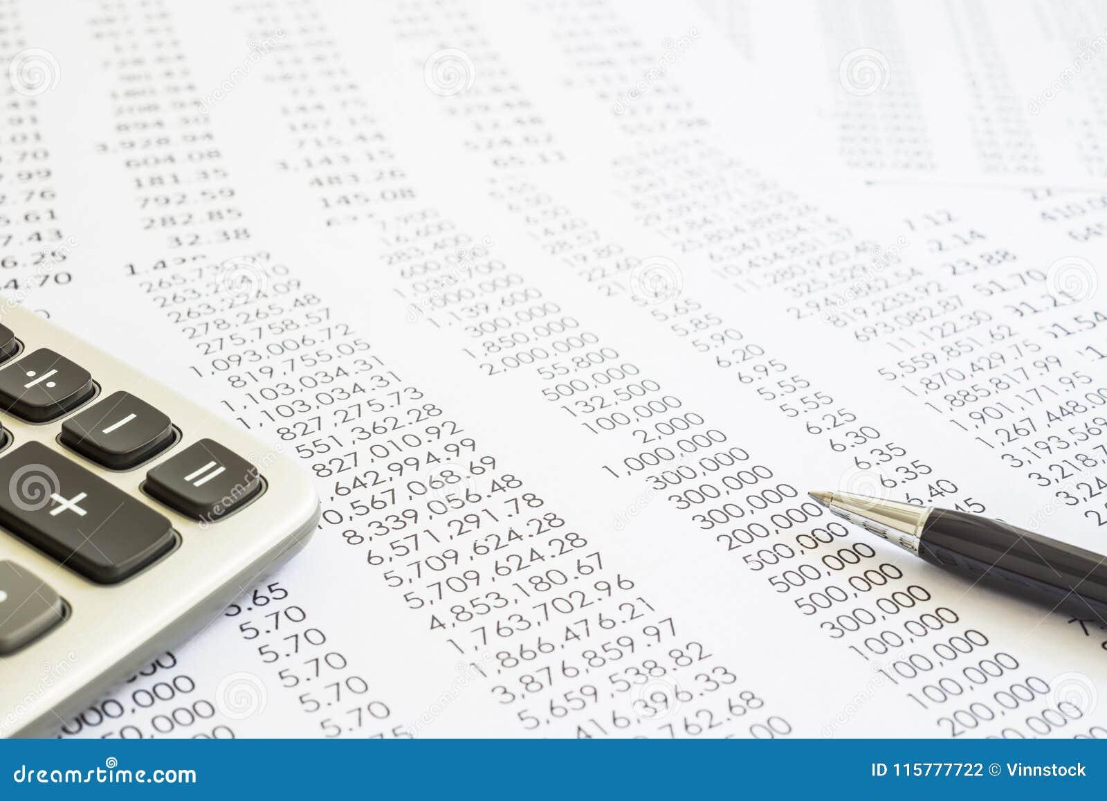 Rapports de contrôle et de comptabilité des relevés des compte financier