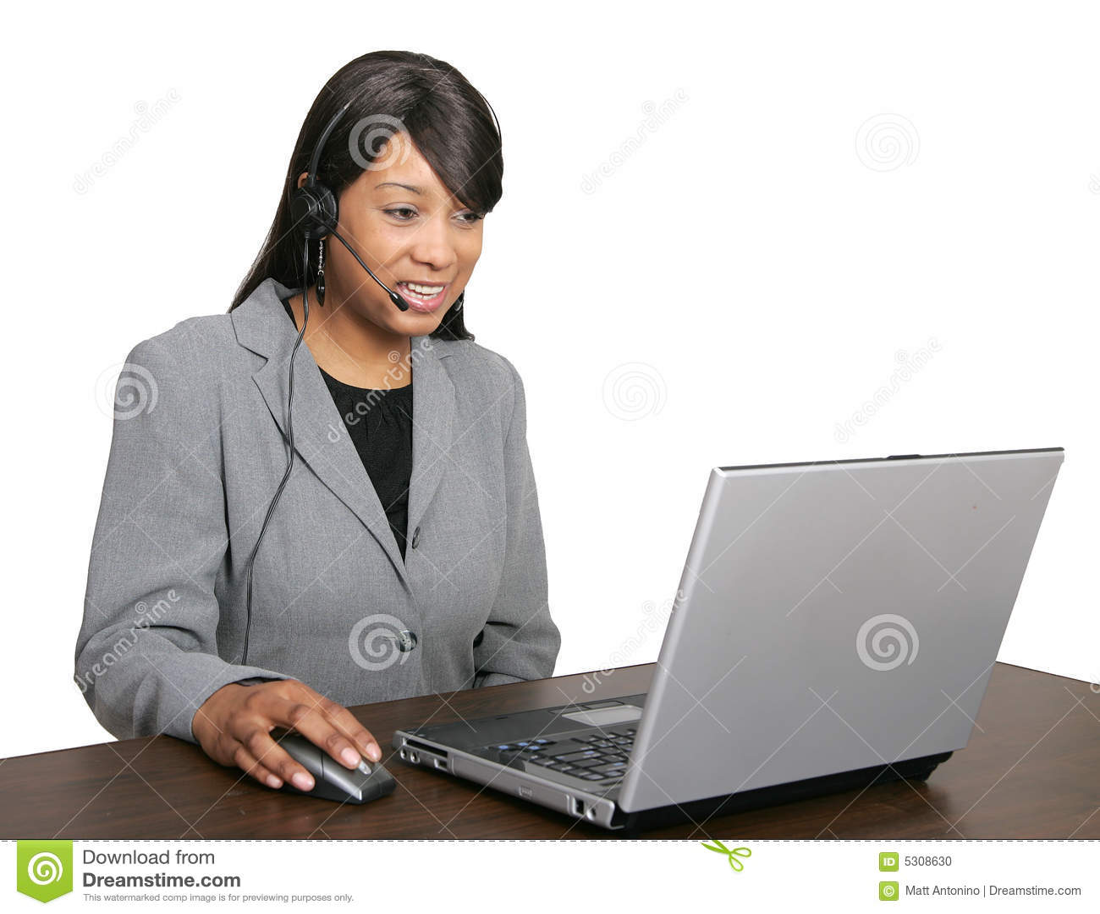 Download Rappresentante Del CSR Dell'afroamericano Fotografia Stock - Immagine di etnico, brunette: 5308630