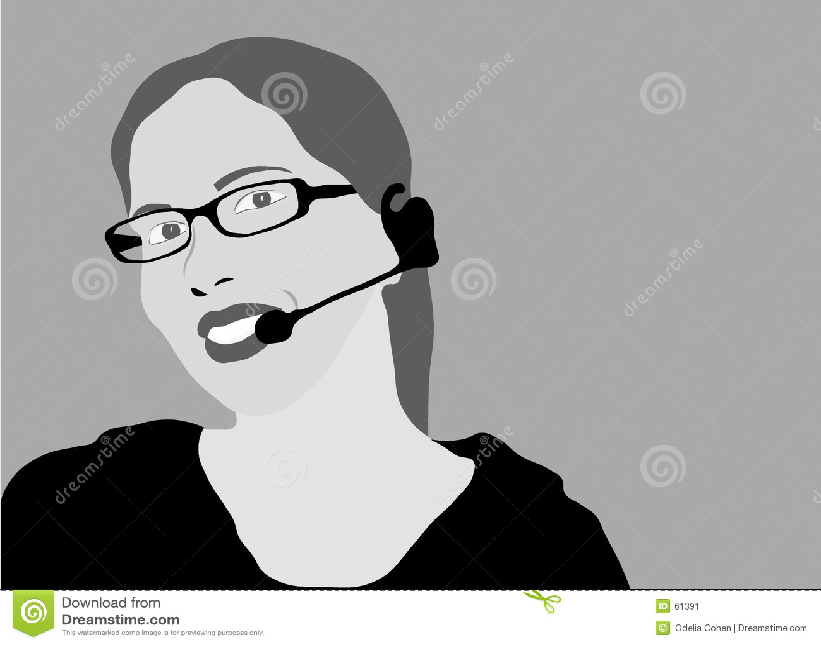 Rappresentante di servizio di assistenza al cliente - gradazione di grigio