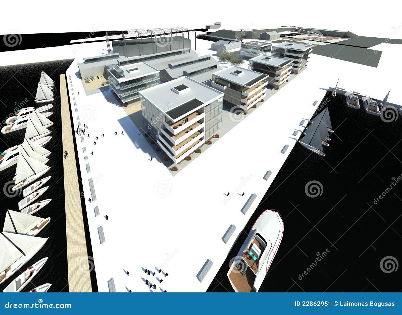 Rappresentazione costruzioni moderne argine immagine for Costruzioni case moderne
