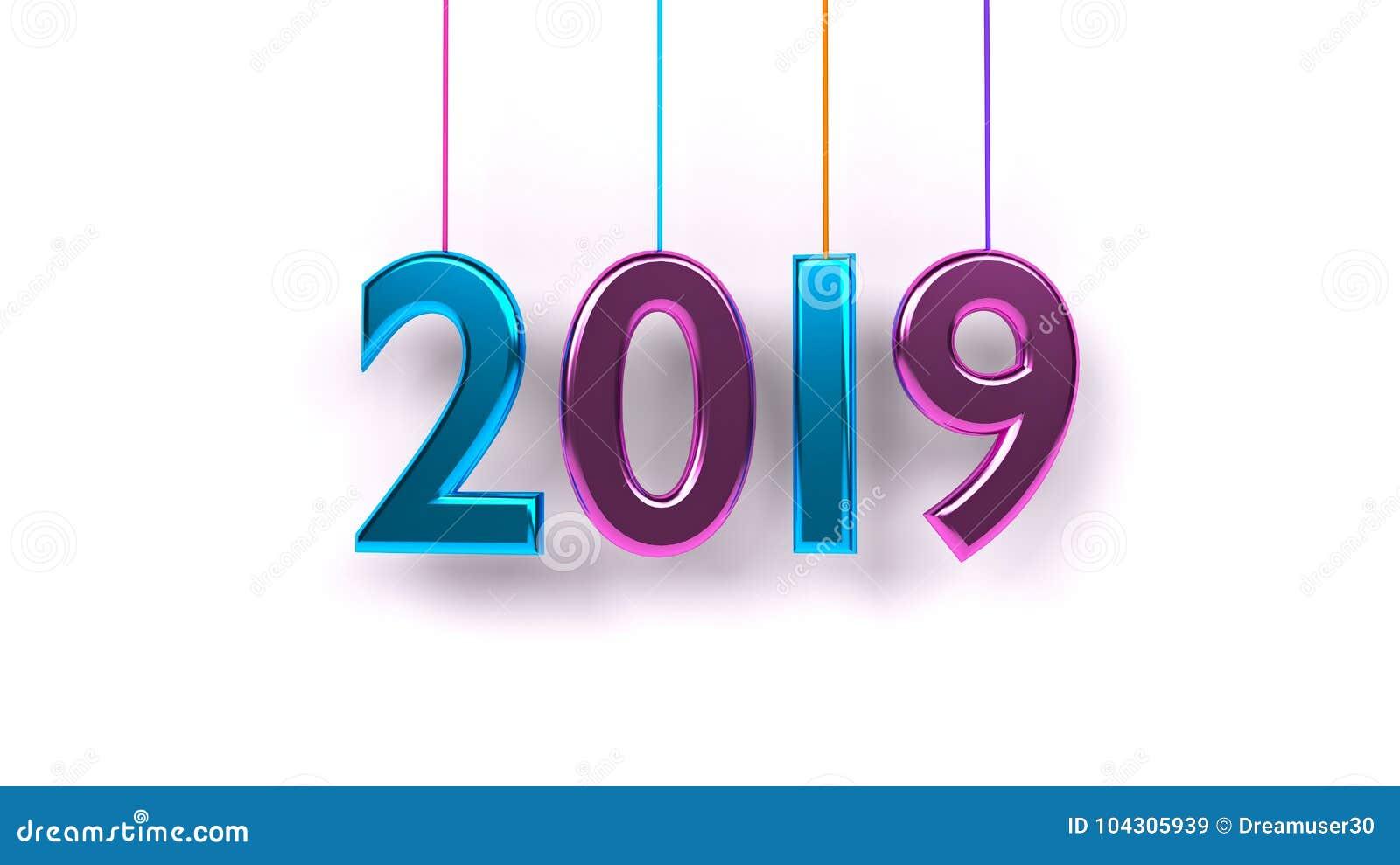 Rappresentazione 3d di anno 2019