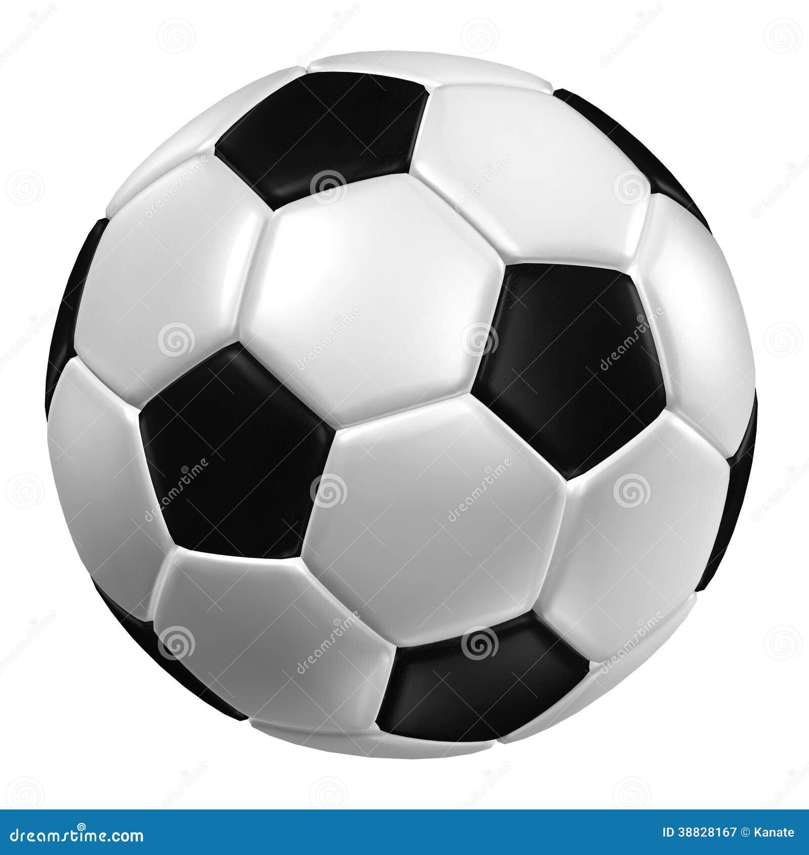 Rappresentazione 3d Di Un Pallone Da Calcio. (Struttura Di Cuoio ...