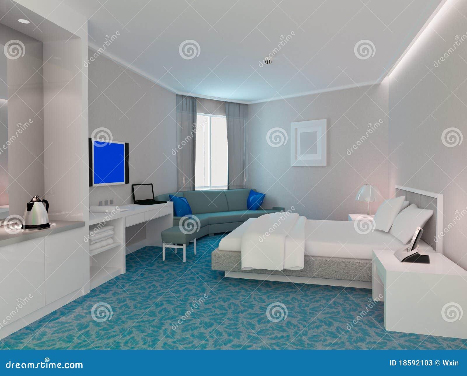 Rappresentazione della camera da letto 3d camere di for Camere albergo design