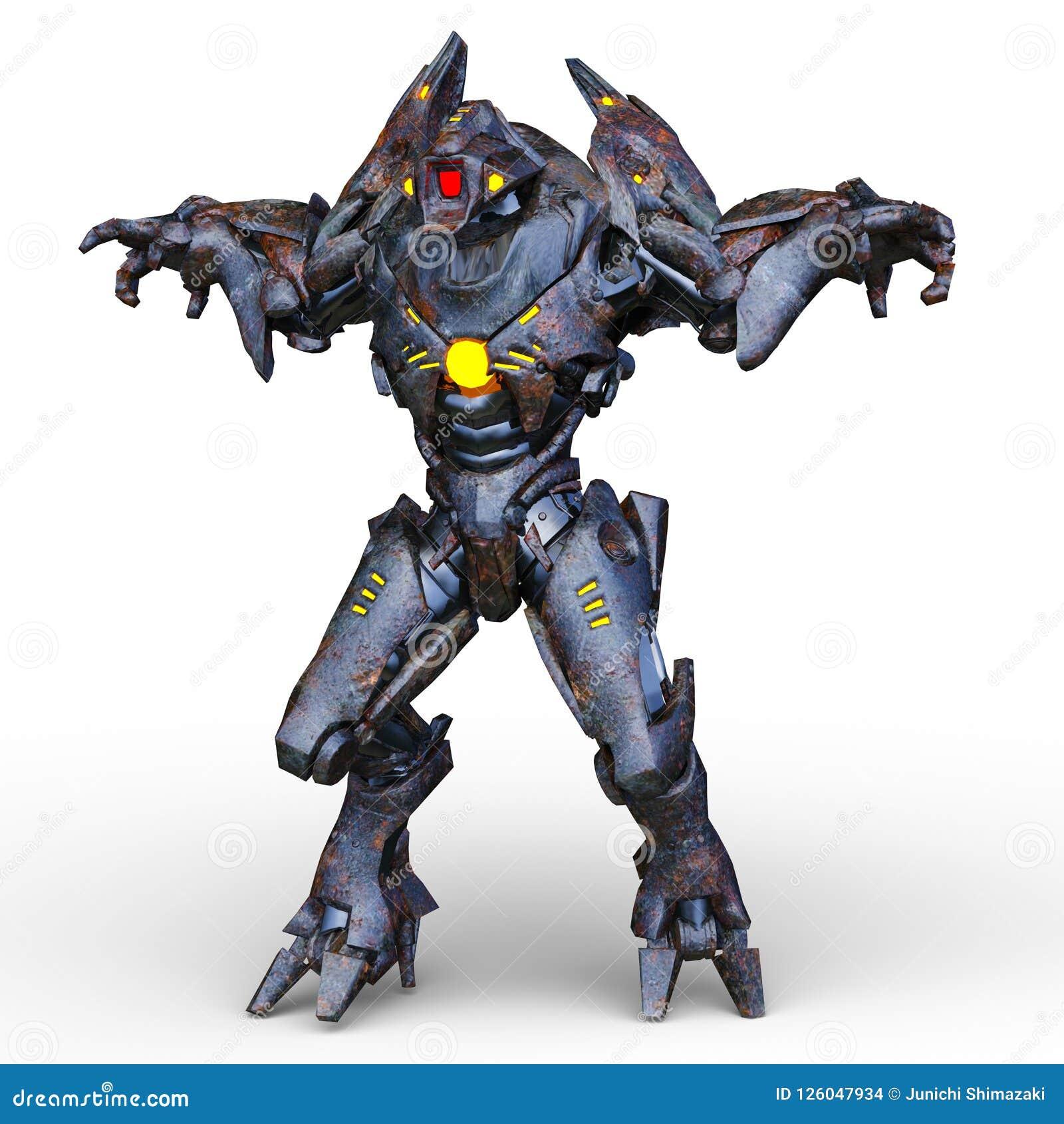 Rappresentazione di 3D CG dell umanoide