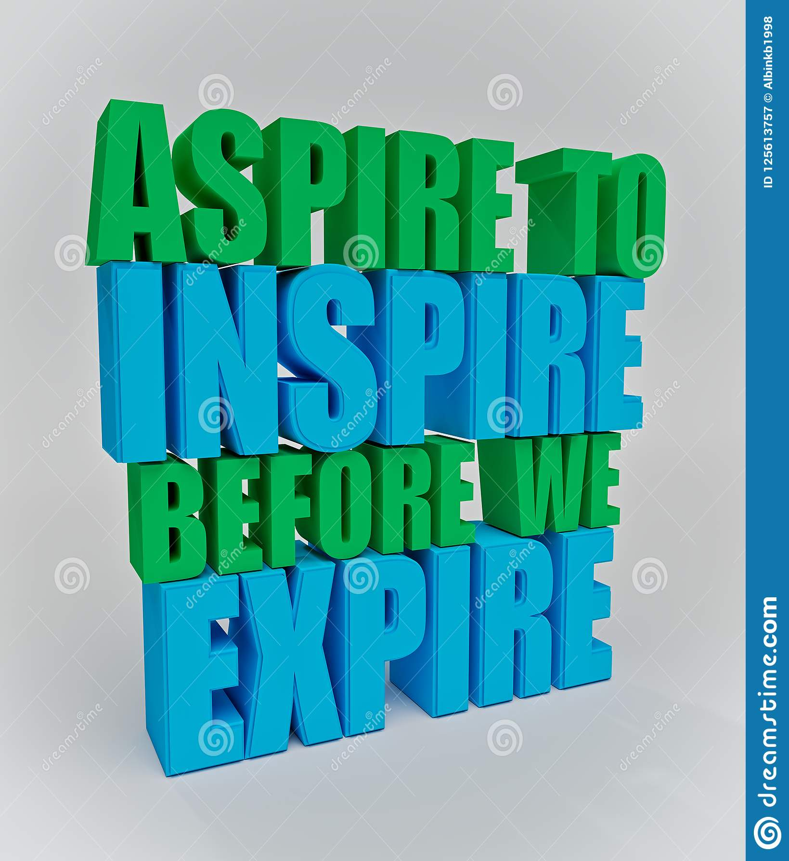 Rappresentazione motivazionale di citazione 3d