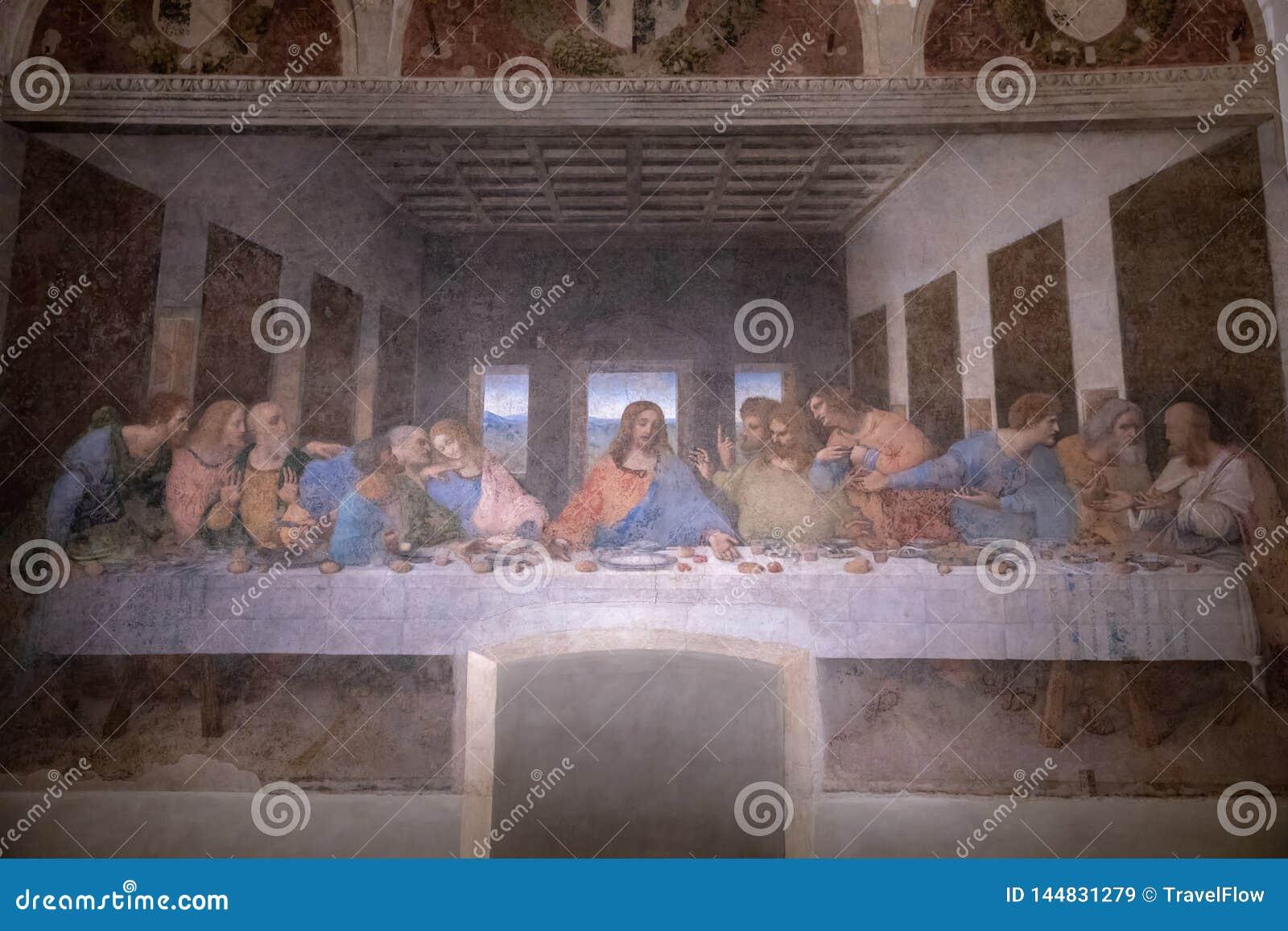 Rappresenti l ultima cena da Leonardo da Vinci