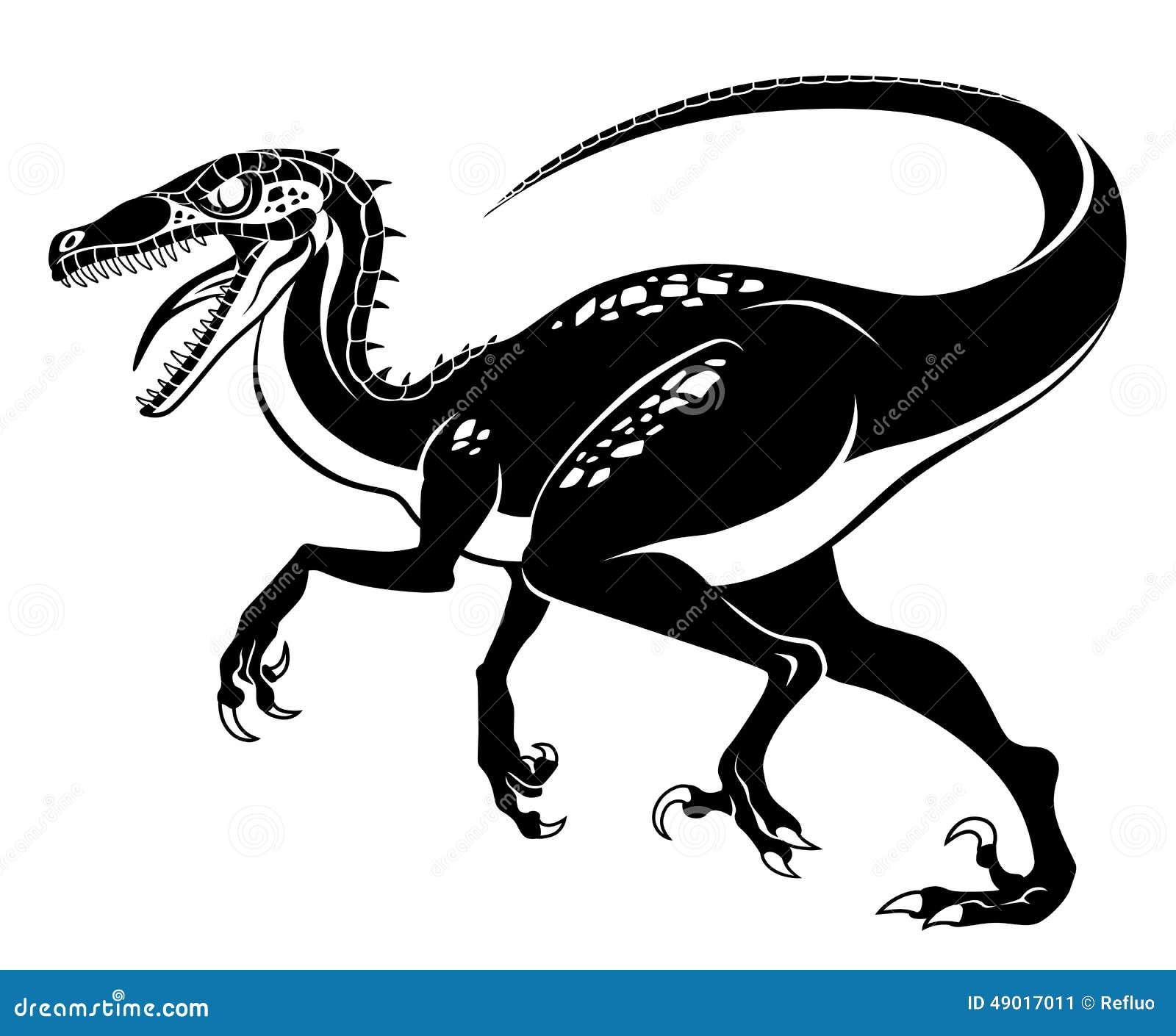 raptor stock vector illustration of carnivore attack