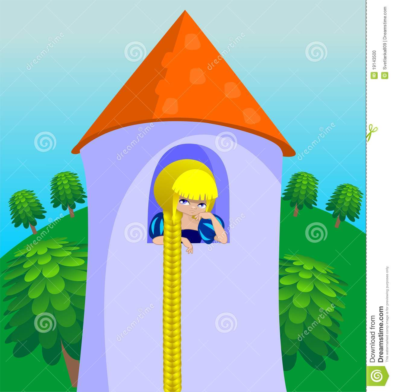 Rapunzel In A Tower Stock Photo Image 19143500