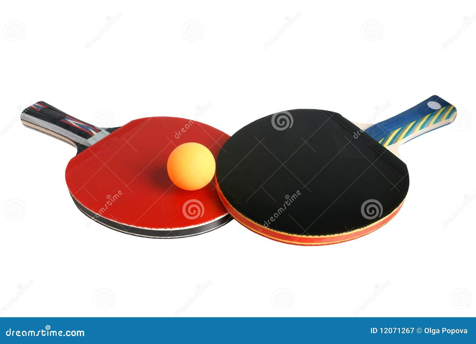 Raquetas y bola de tenis de vector