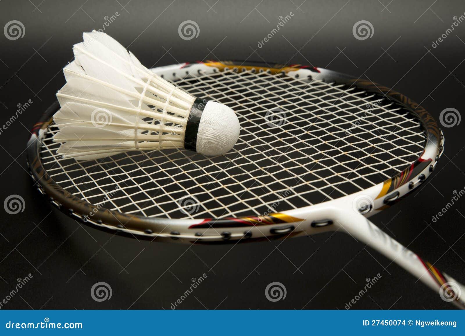 Raquete de Badminton e shuttlecock