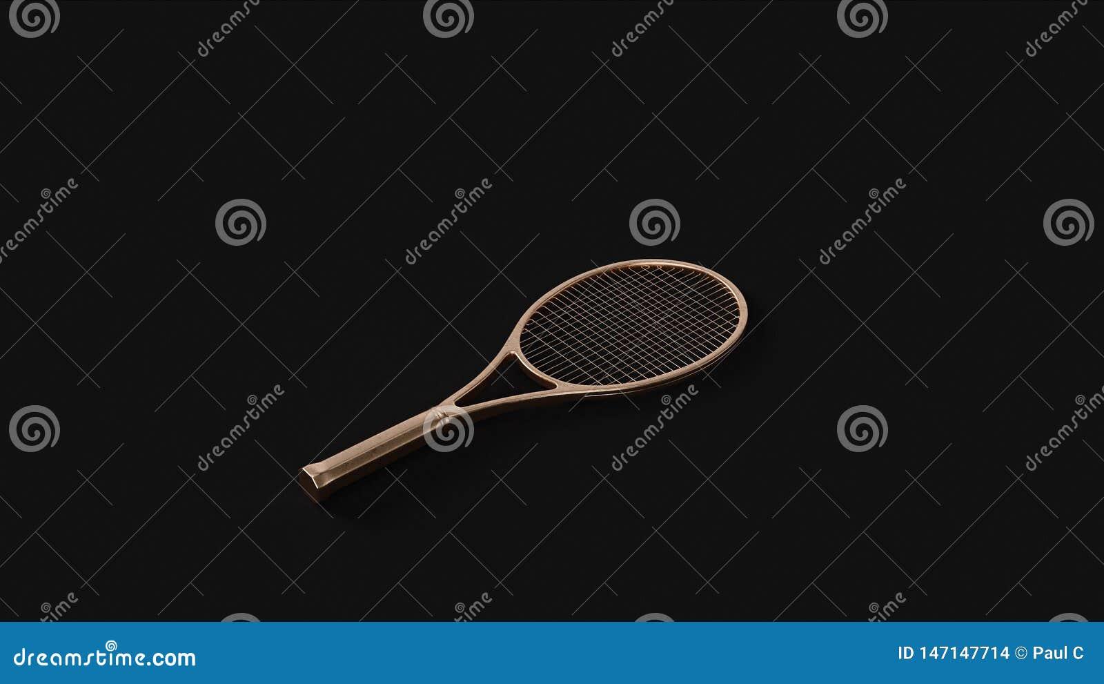 Raquete de tênis de bronze de bronze