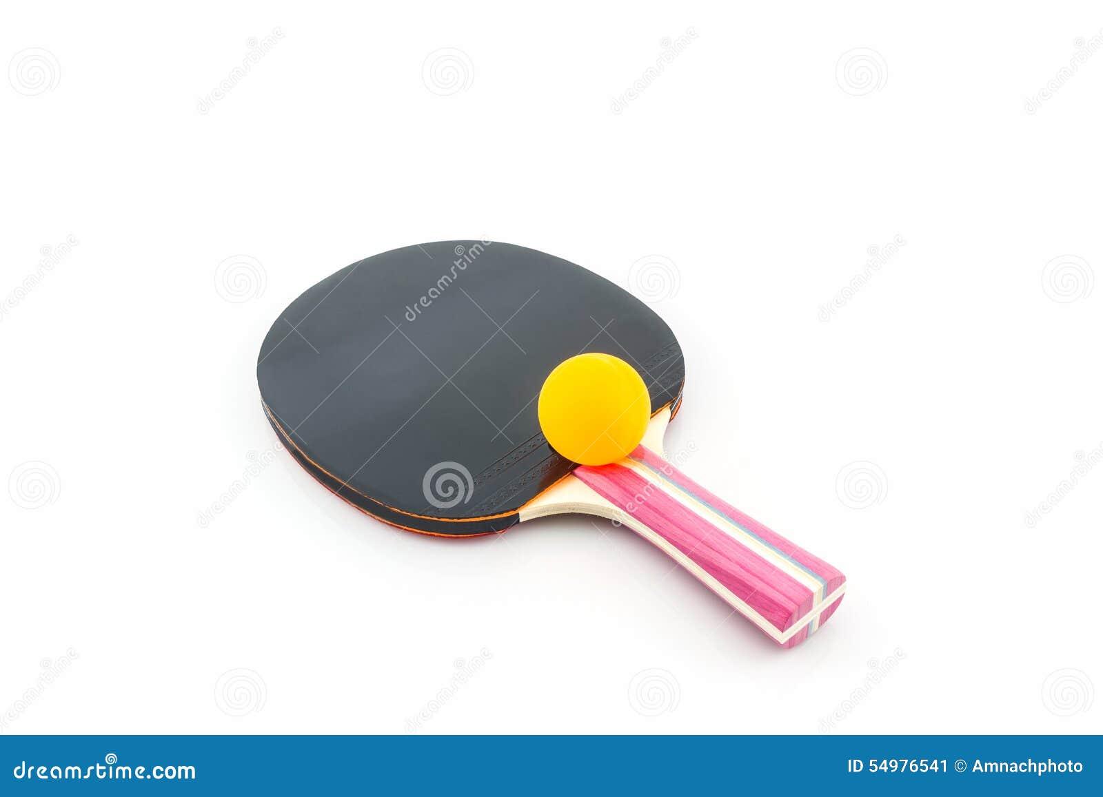 Raquete do tênis de mesa (tênis de mesa) e uma bola