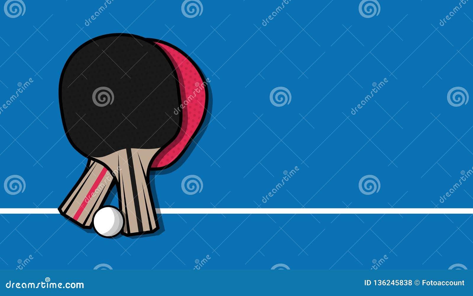 cc109a578 Raquetes de tênis de mesa e bola - Ping Pong Game Background - ilustração  do vetor