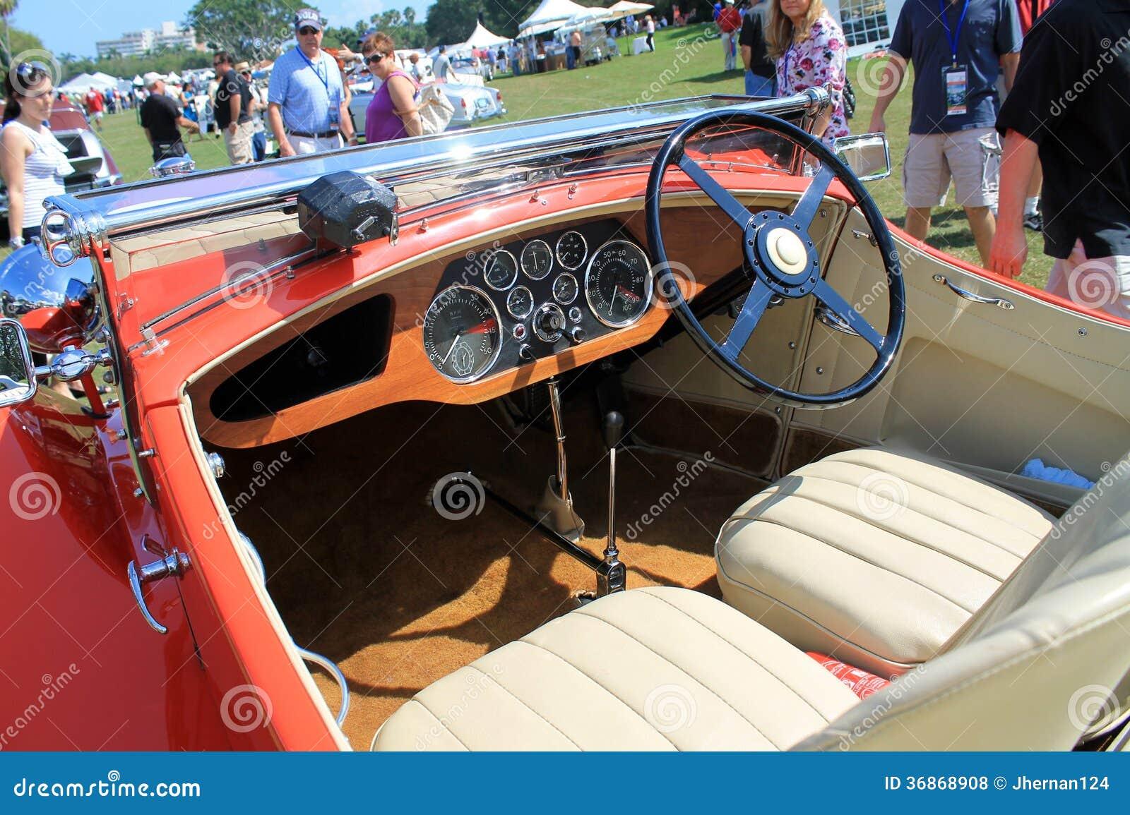 rare antique british car interior editorial stock photo image 36868908. Black Bedroom Furniture Sets. Home Design Ideas