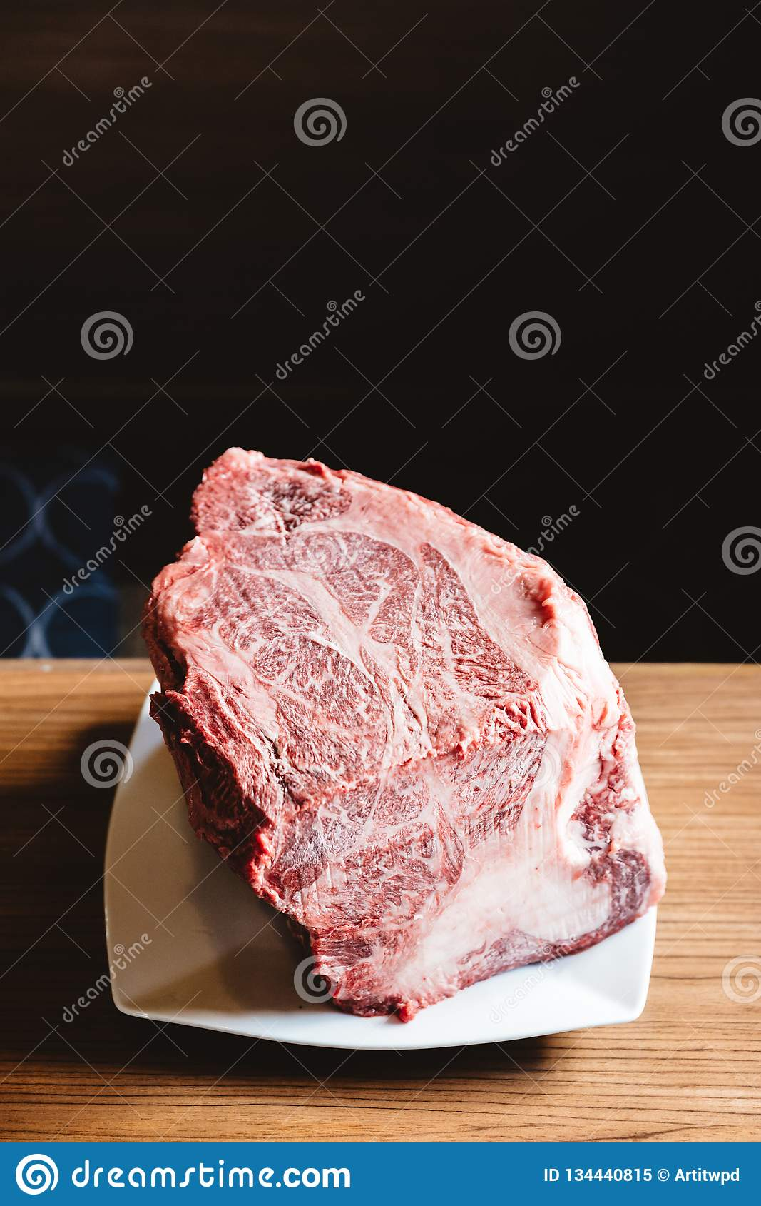 Rare authentic A5 Grade Japanese Wagyu beef Filet Mignon with high-marbled texture. Boneless and juicy for making Shabu and sushi