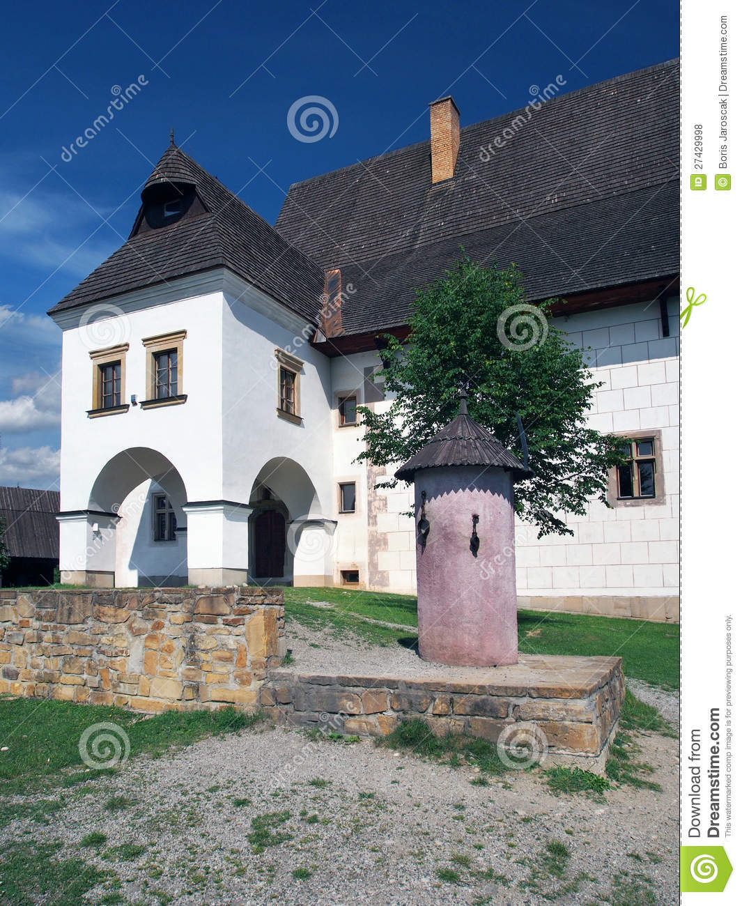 Rare manor house and pillar of shame in Pribylina