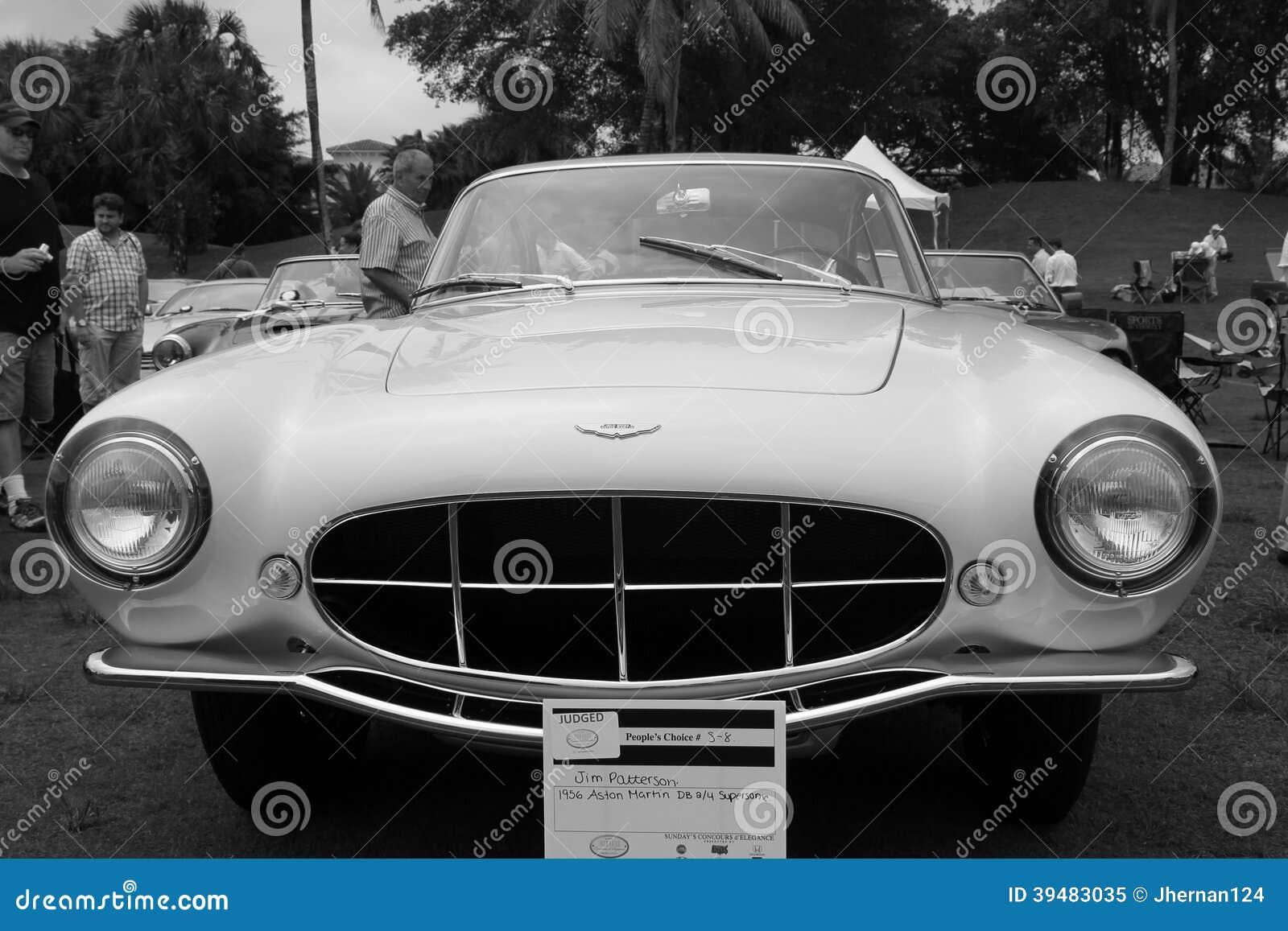 Rare 1950s Aston Martin Model Front View B W Editorial Image Image