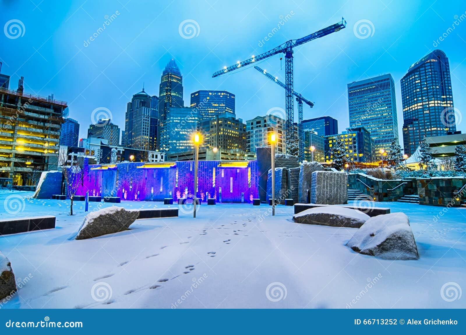 Rare Winter Weather In Charlotte North Carolina Editorial