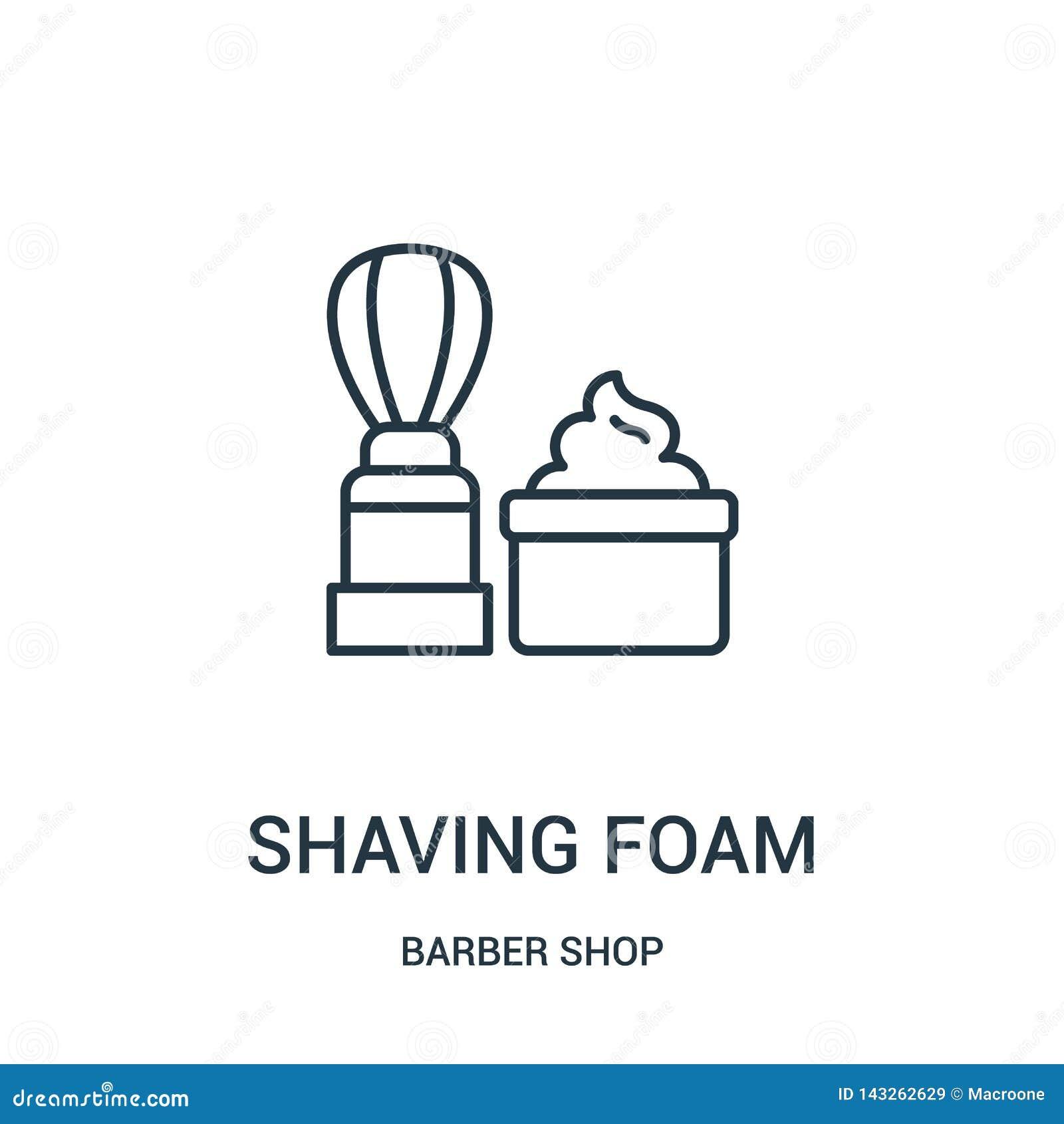 Rasatura del vettore dell icona della schiuma dalla raccolta del negozio di barbiere Linea sottile che rade l illustrazione di ve