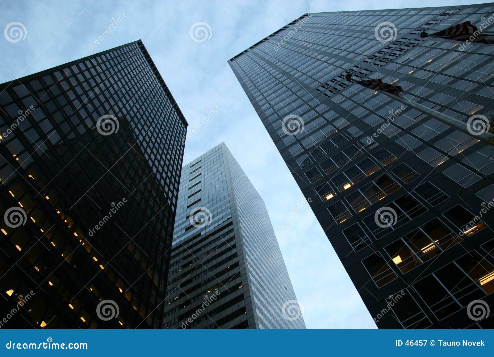 Rascacielos en el districto financiero
