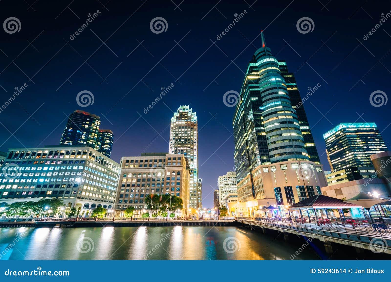Download Rascacielos En El Lugar Del Intercambio En La Noche, En Jersey City, Nuevo Jers Foto de archivo - Imagen de nuevo, luces: 59243614
