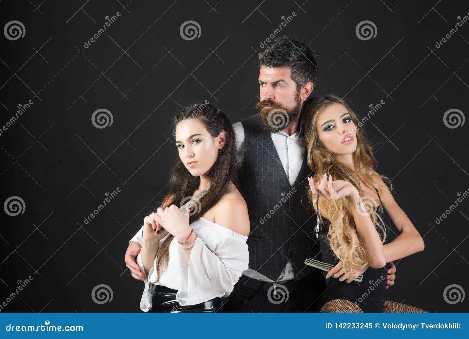 Raseur-coiffeur, mode, beauté, hippie