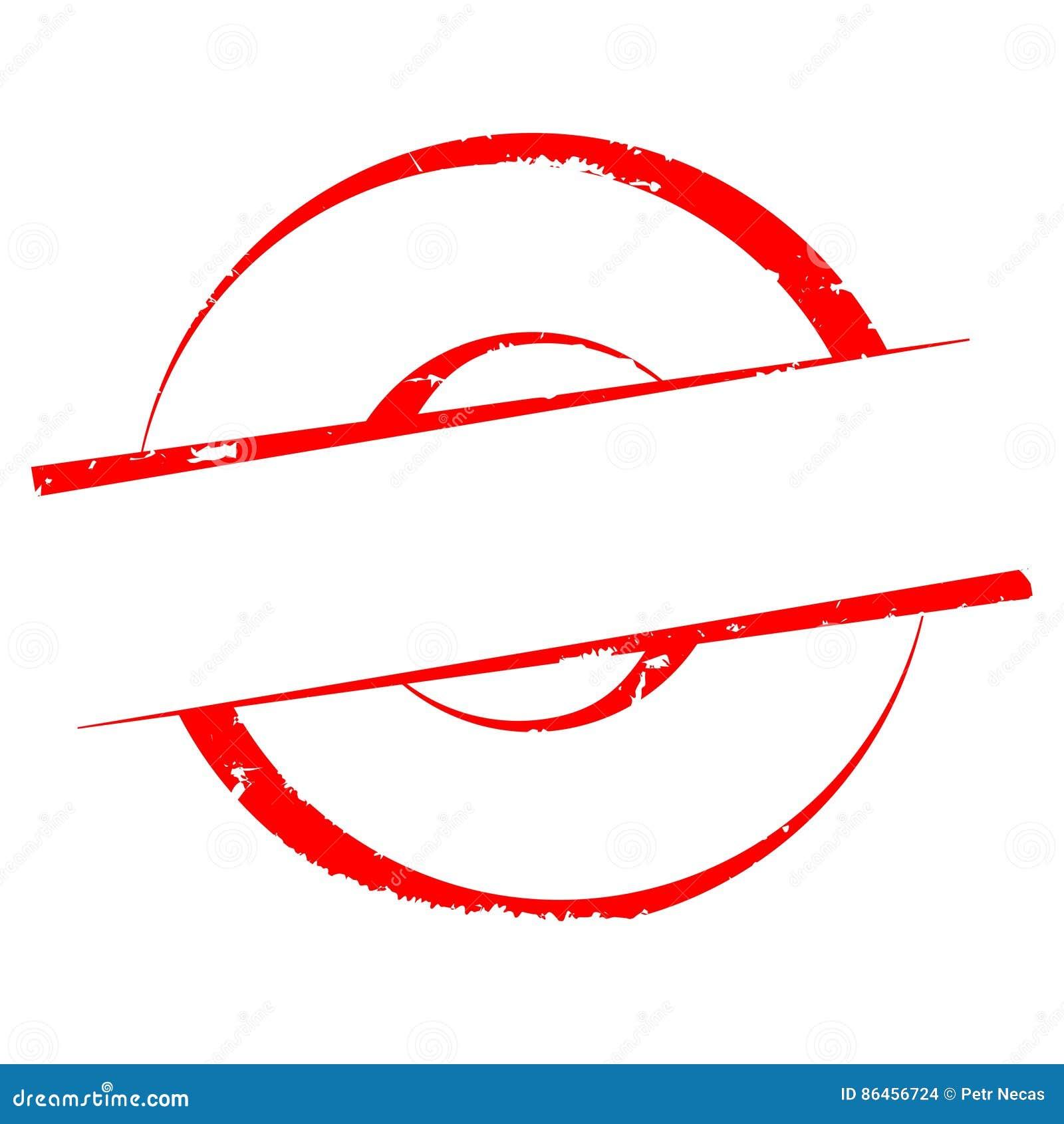 Rasguñado alrededor del sello sin el texto - vector