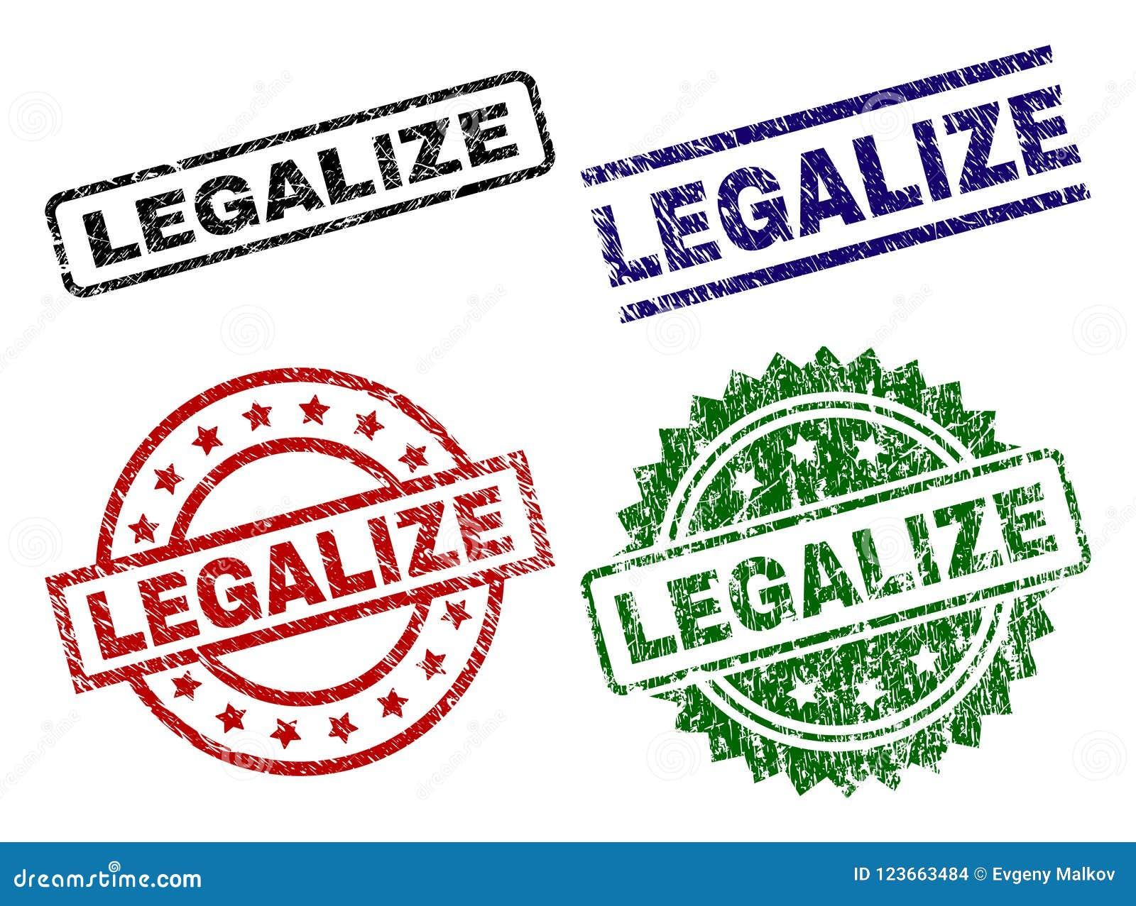 Rasguñado texturizado LEGALICE los sellos del sello