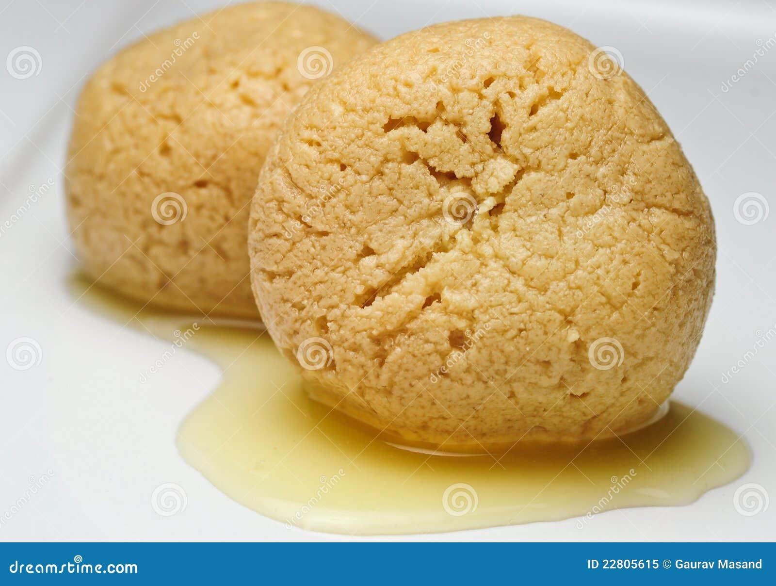 Nolen Gurer Rasgulla Rossogolla With Bengal Jaggery Flavor Royalty Free Stock Photo
