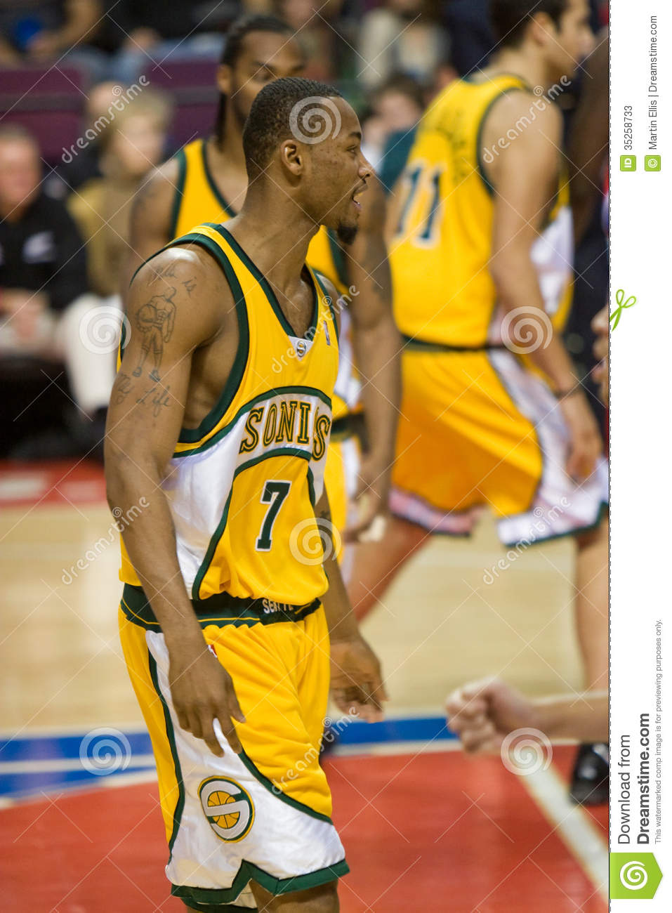 Rashard Lewis The Seattle Supersonics Editorial Stock