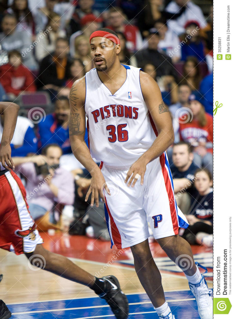 Rasheed Wallace Watches The Play Editorial Image