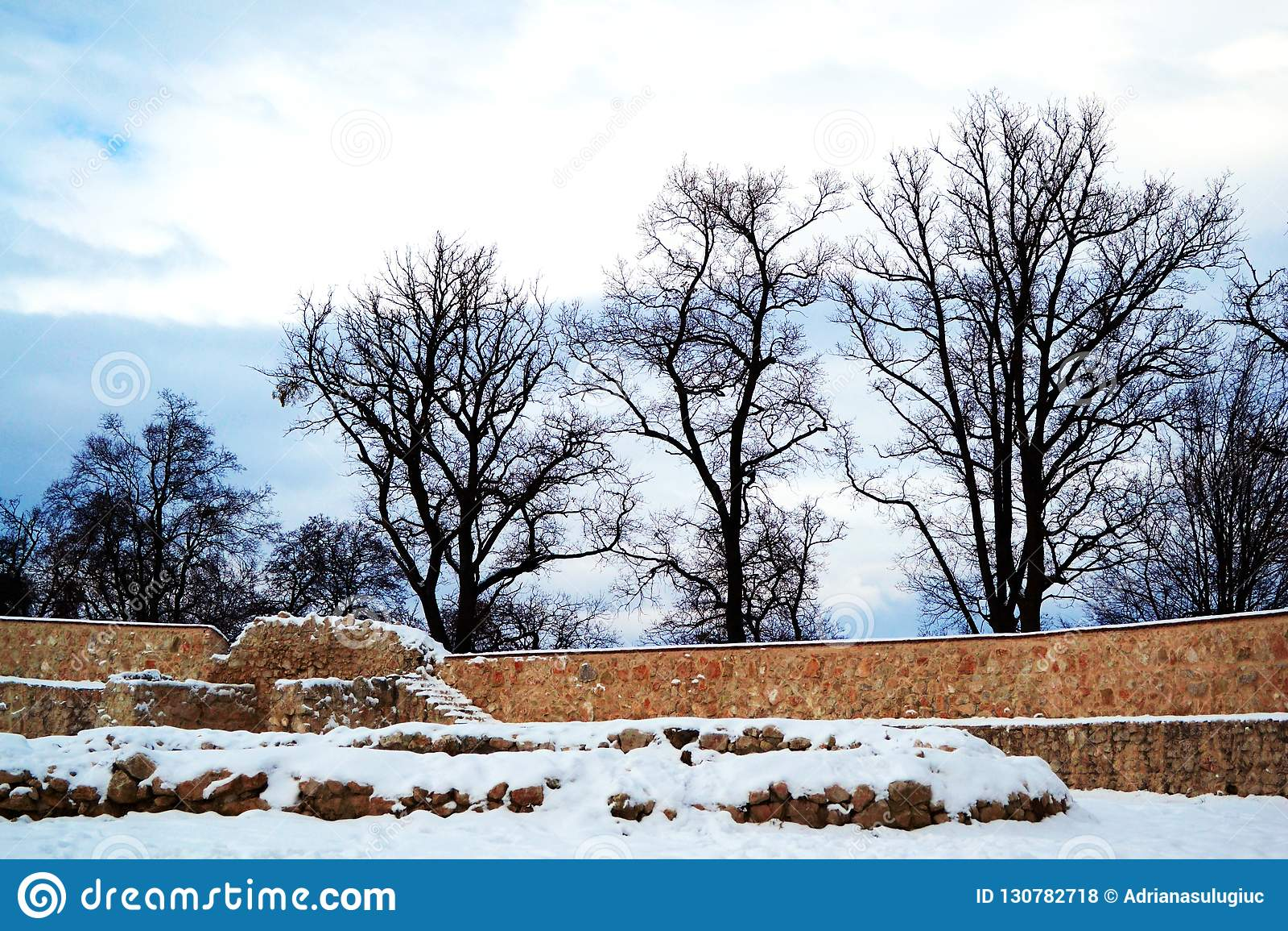 Rasnov堡垒墙壁