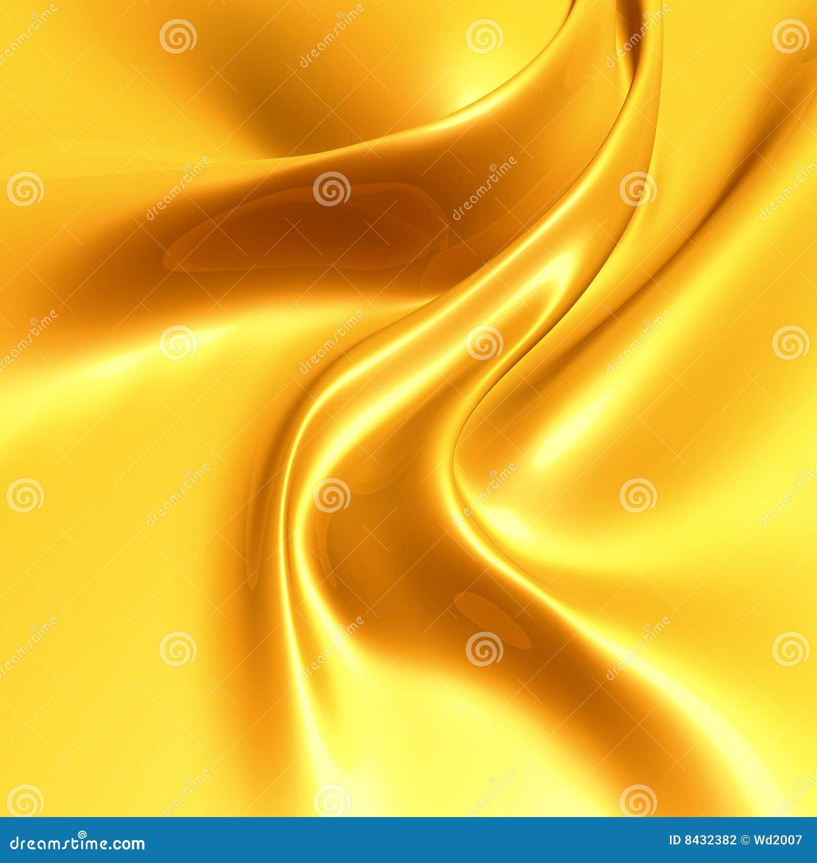 Raso di seta giallo elegante