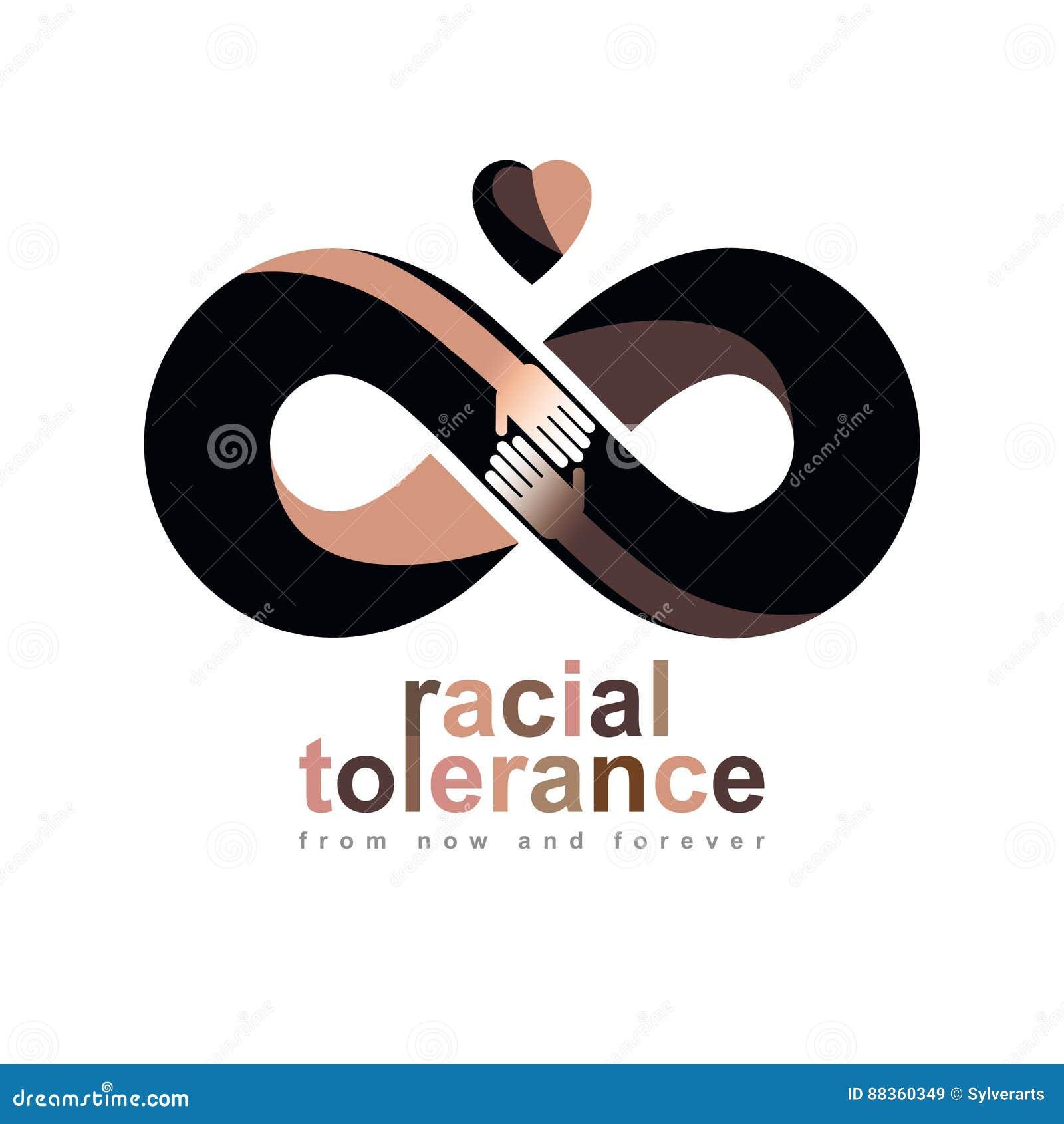 Rasowa tolerancja między różnych narodów konceptualnym symbolem, Ma