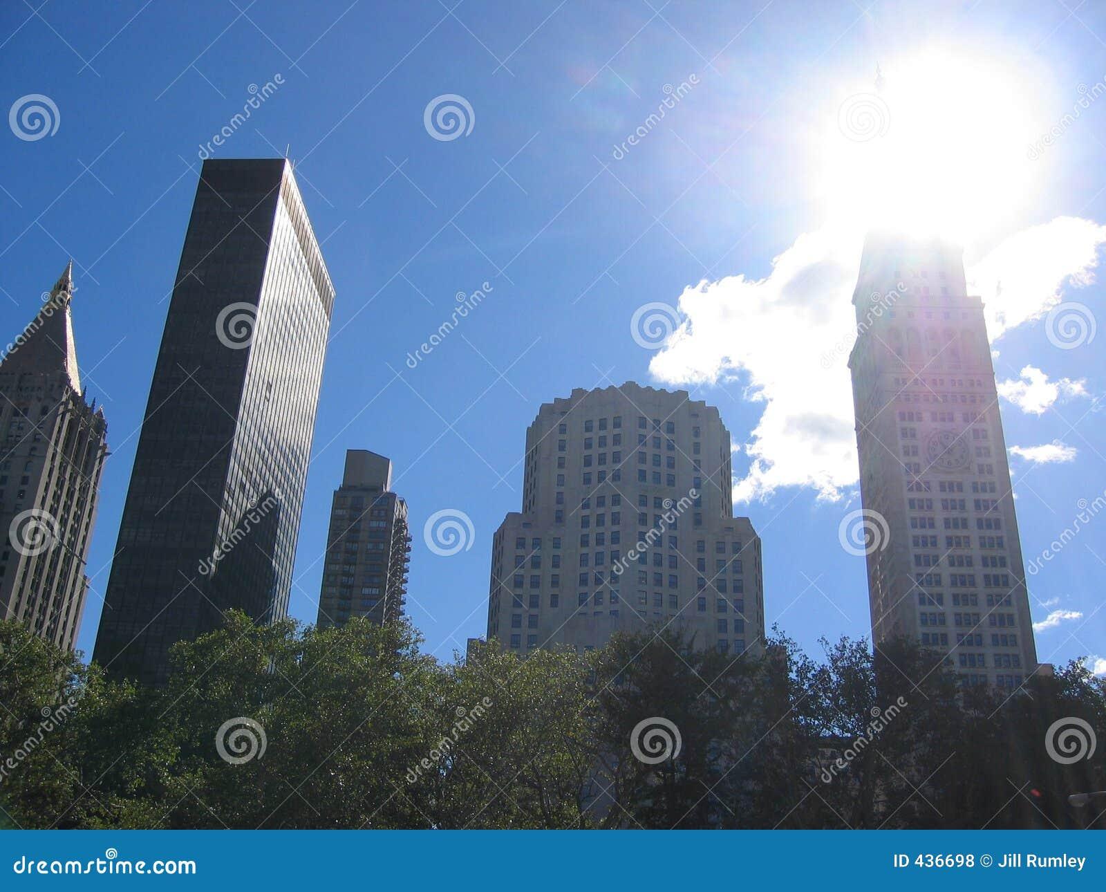 Raspadores do céu de New York