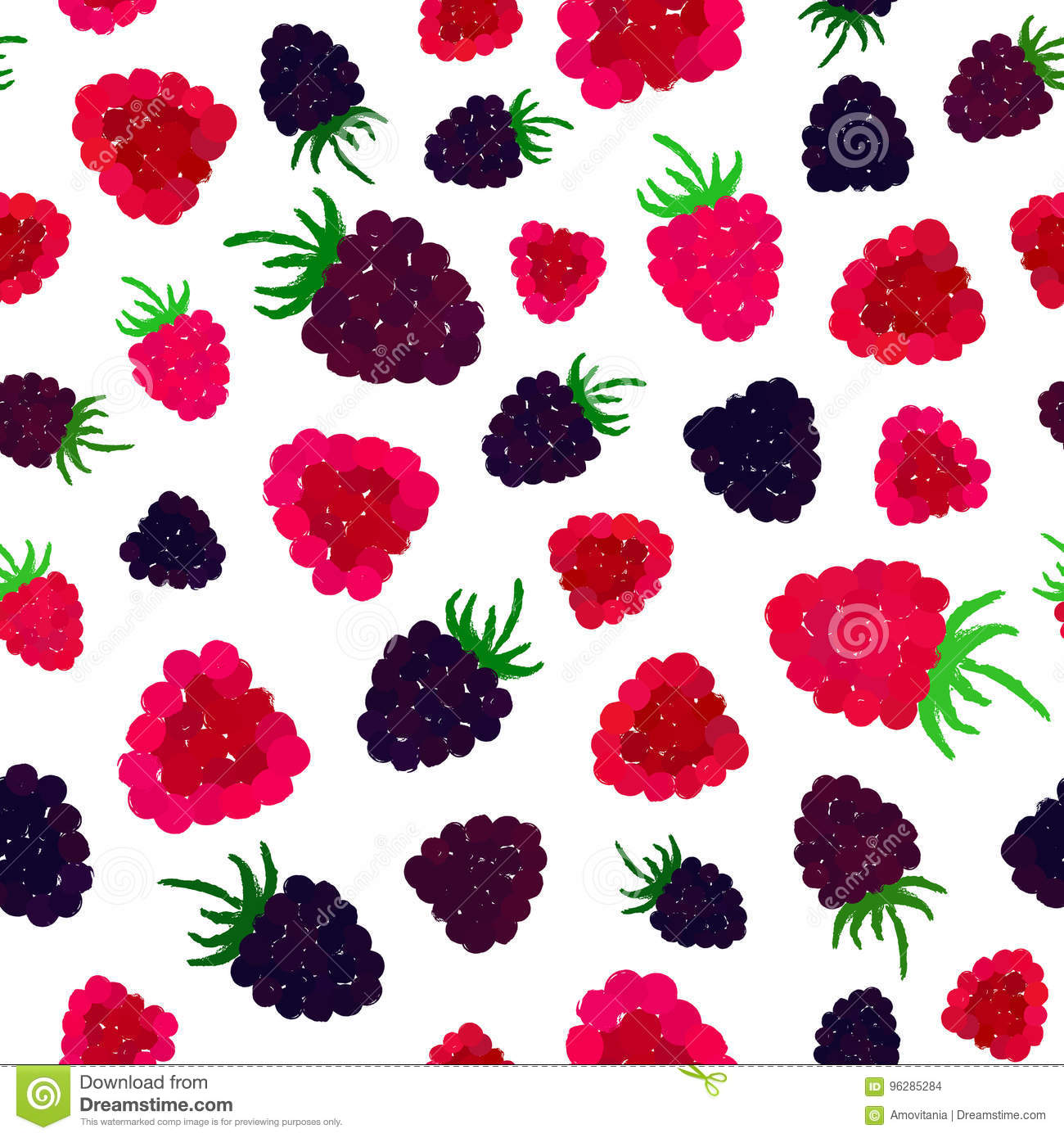 Raspberry background painted pattern stock vector image for Kitchen print wallpaper