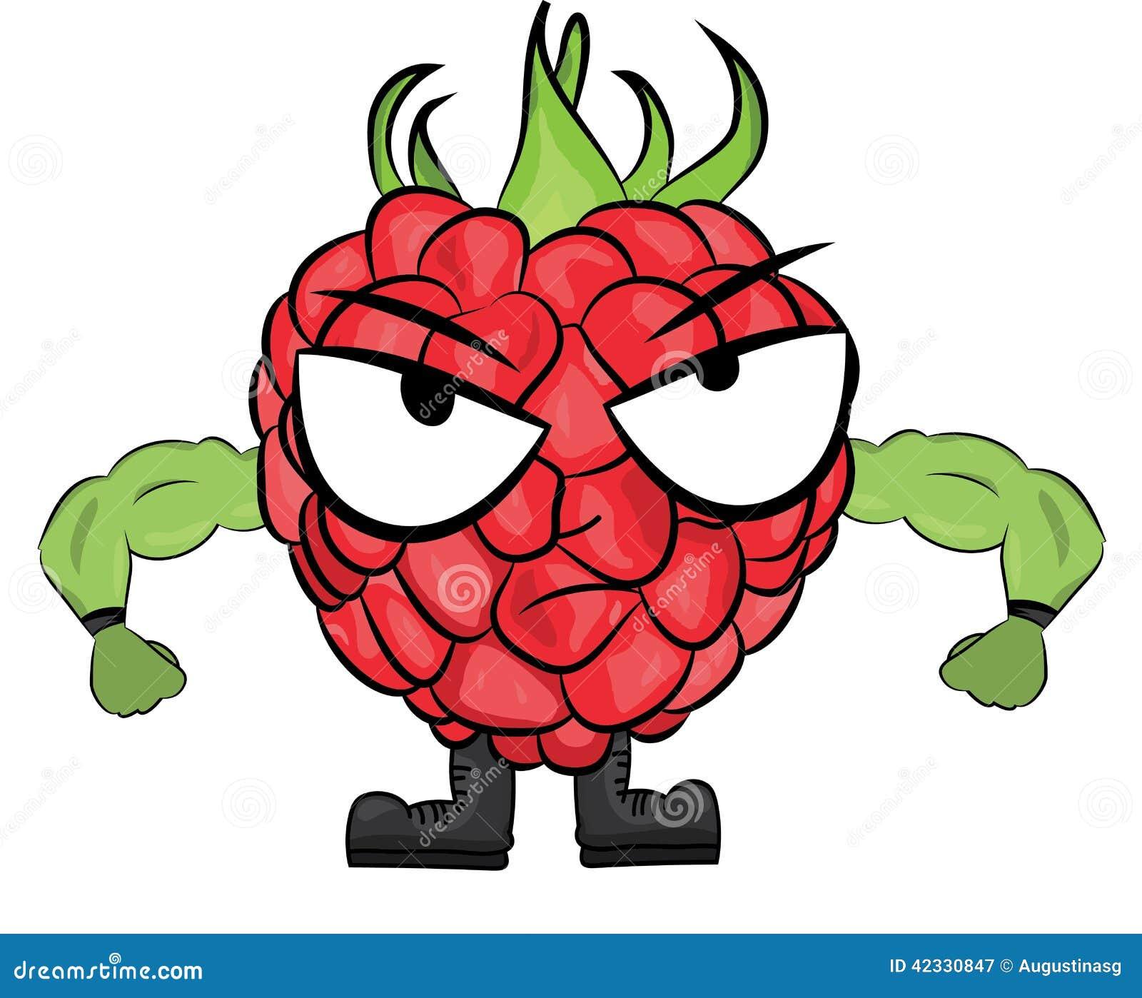 Raspberry Cartoon Character Stock Illustration Image